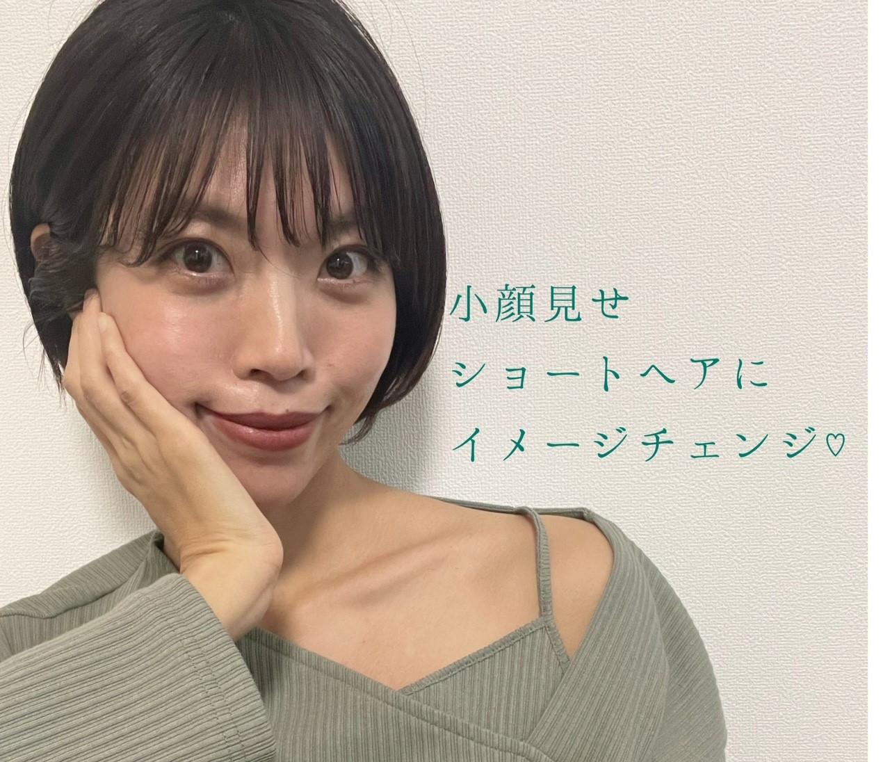 """ざっくりニットとの相性◎""""小顔見せ""""ショートに髪型チェンジ♡"""
