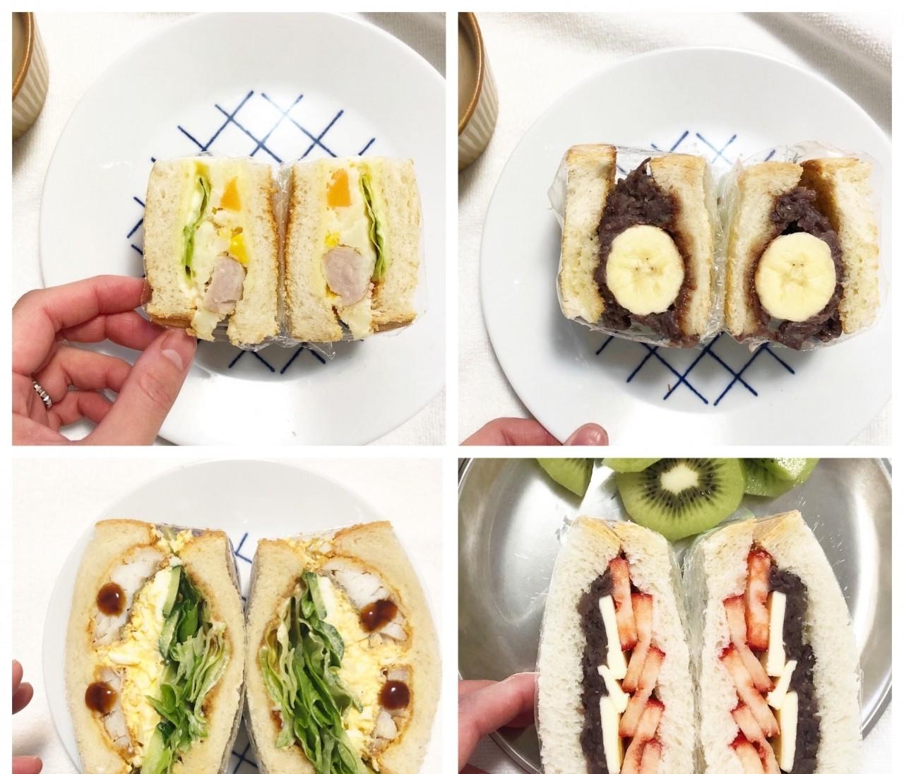 #おうち時間  実は簡単‼︎萌え断サンドで朝ごパン