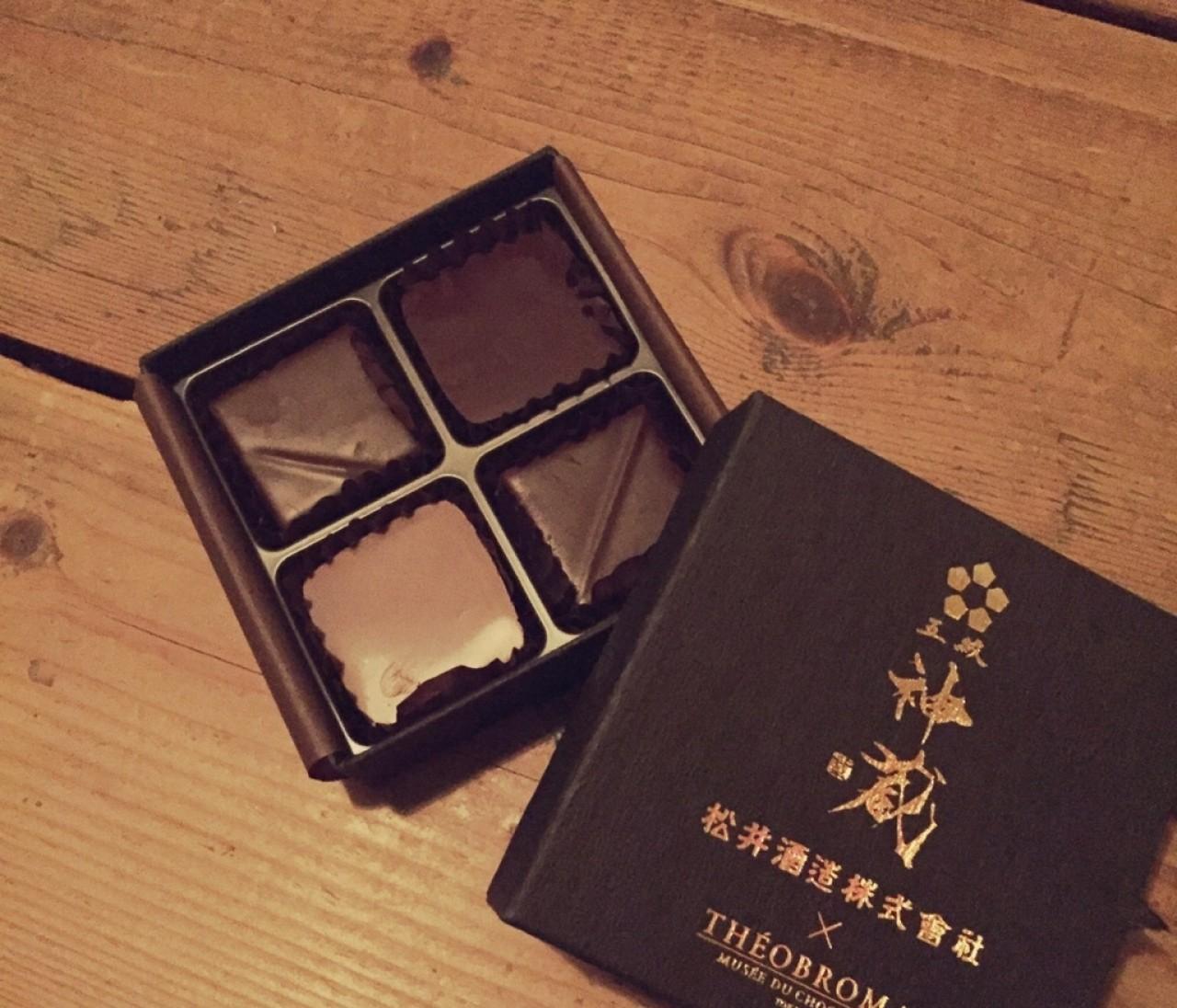 京都の銘酒とマリアージュ。テオブロマのショコラ