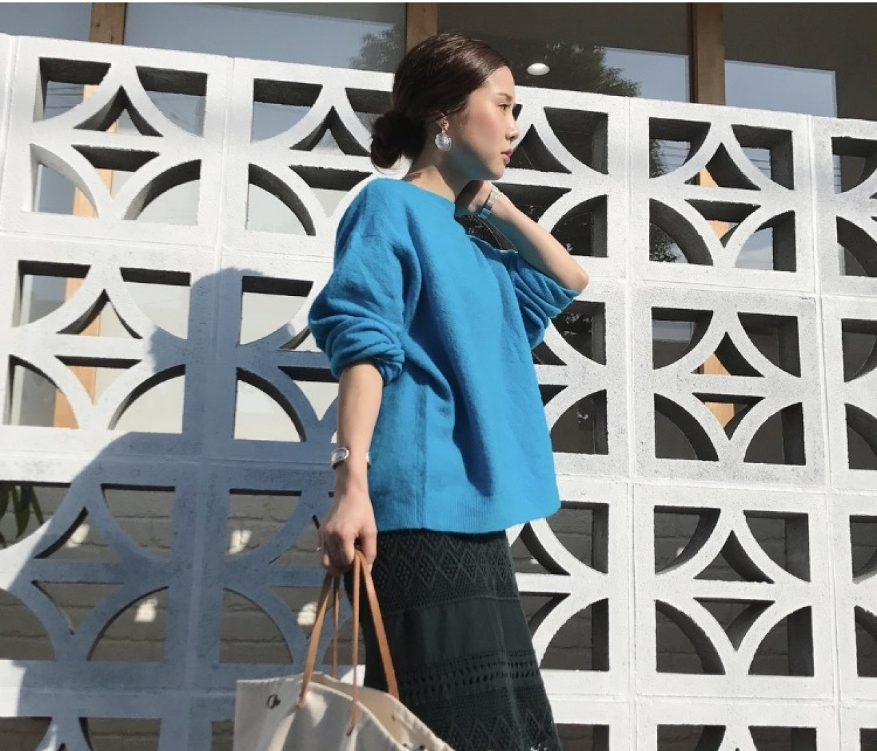 【154cm hanna code】collar knit