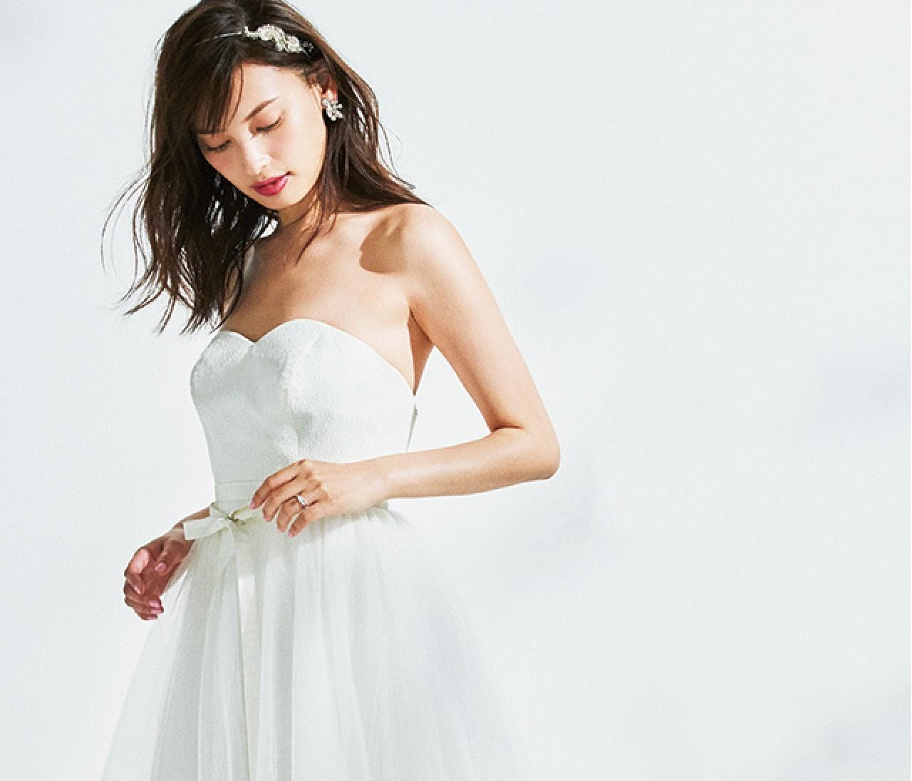可愛げのあるブリリアントリング【好みのドレスから考えるウエディングリング 2】