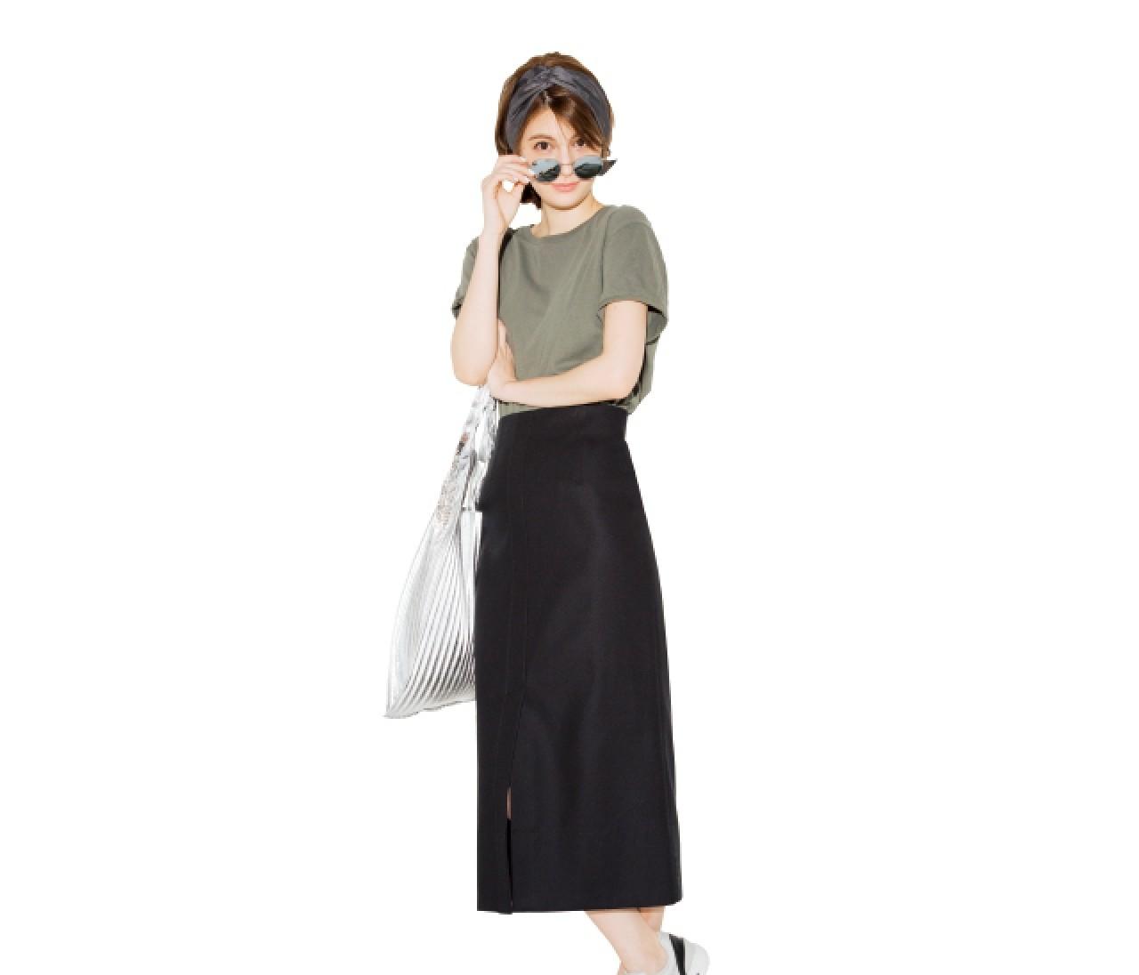 定番【黒タイトスカート】×トレンドアイテムで着回し7Days