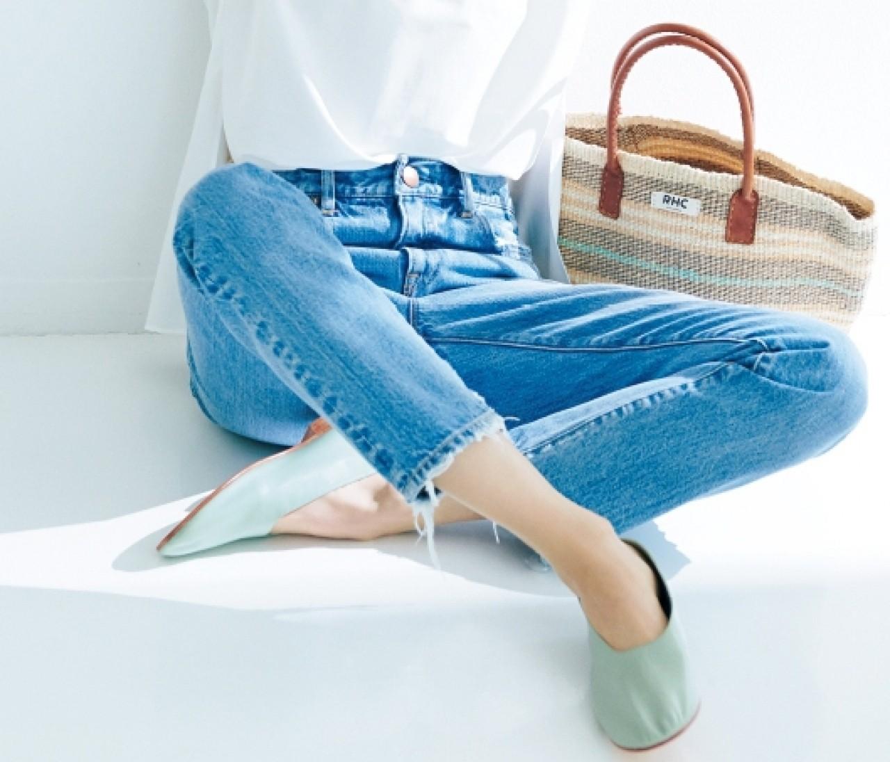 【働く女子の春フラット靴】「淡パステル」ならどのボトムにも合う!