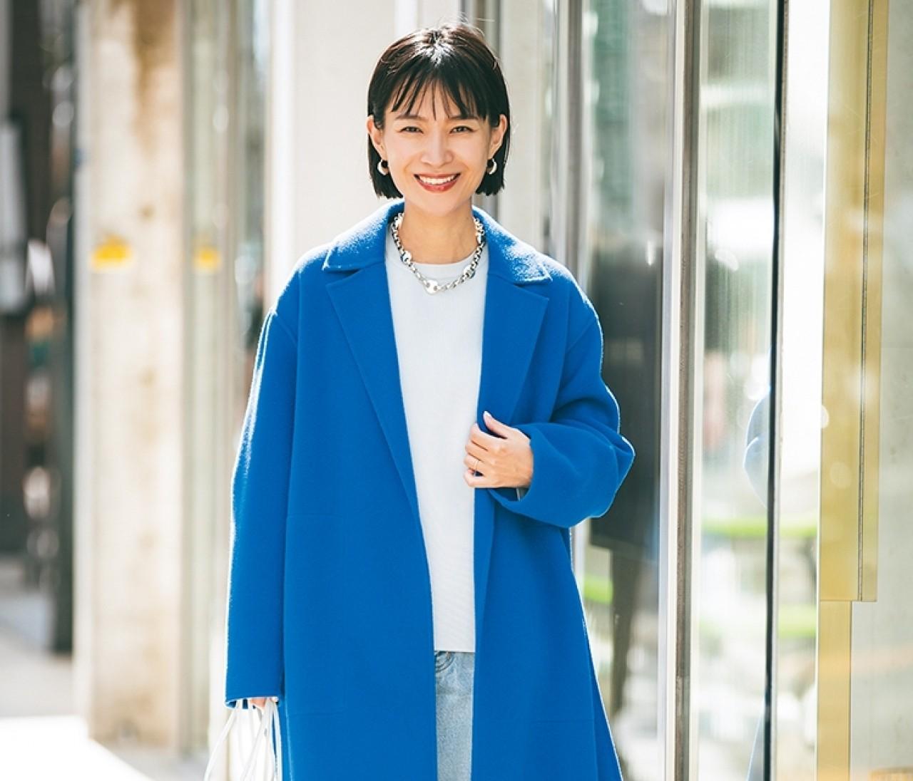 """【30代のコート選び】""""きれい色""""の着流しコートが素敵すぎる!着こなしを総チェック"""