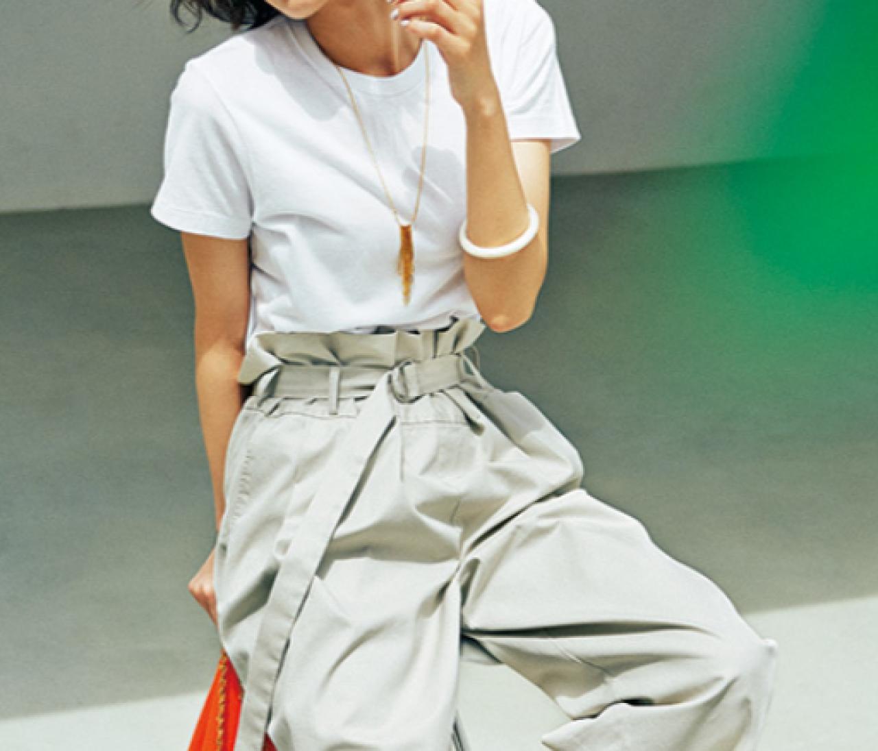 【30代の白Tシャツ】今どき・しゃれ感・着やせハットトリックコーデ9連発