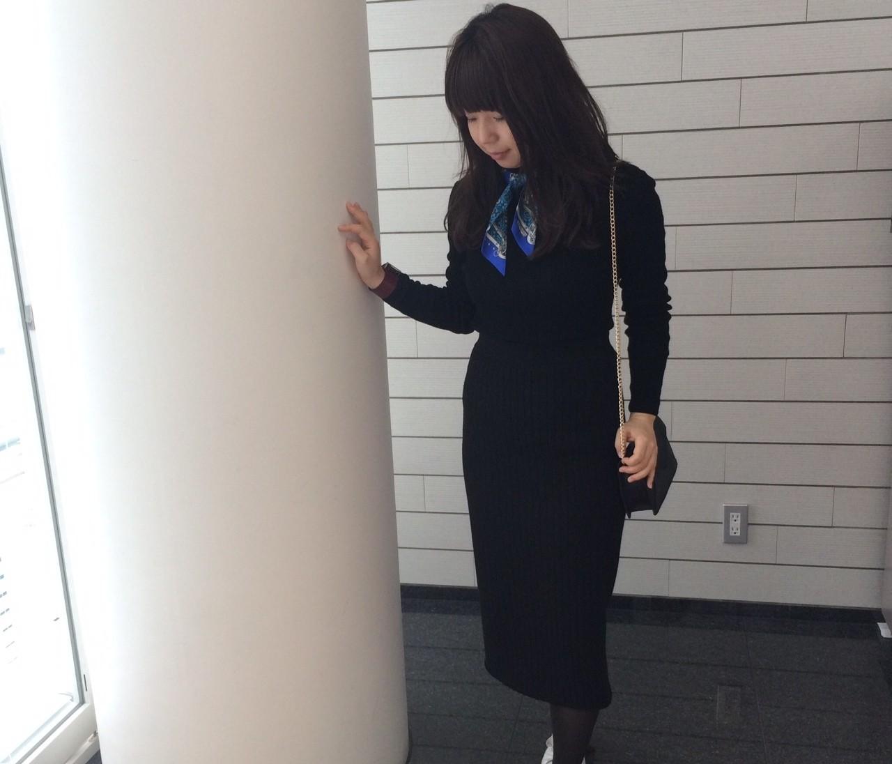 【#OOTD】なんか地味?な日にすぐ効くスカーフ!