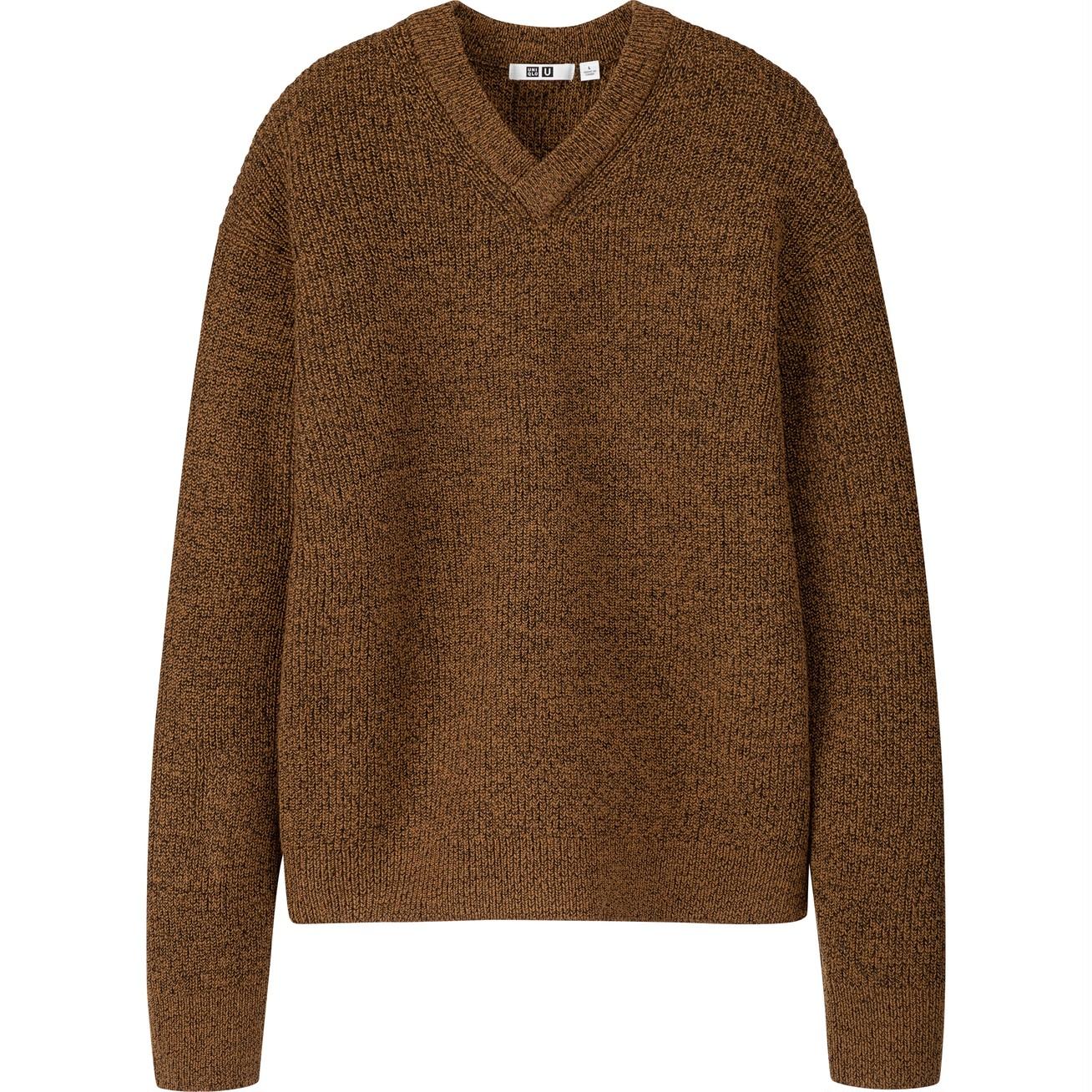 メランジVネックセーター(メンズ)¥4990/ユニクロ(ユニクロ ユー)