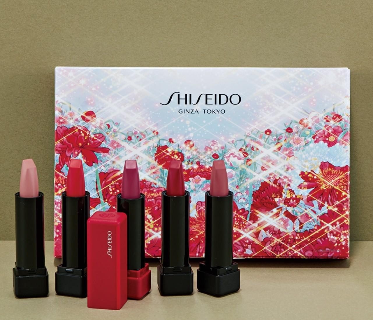【クリスマスコフレ】SHISEIDOから注目カラーが5色揃ったミニリップのセット