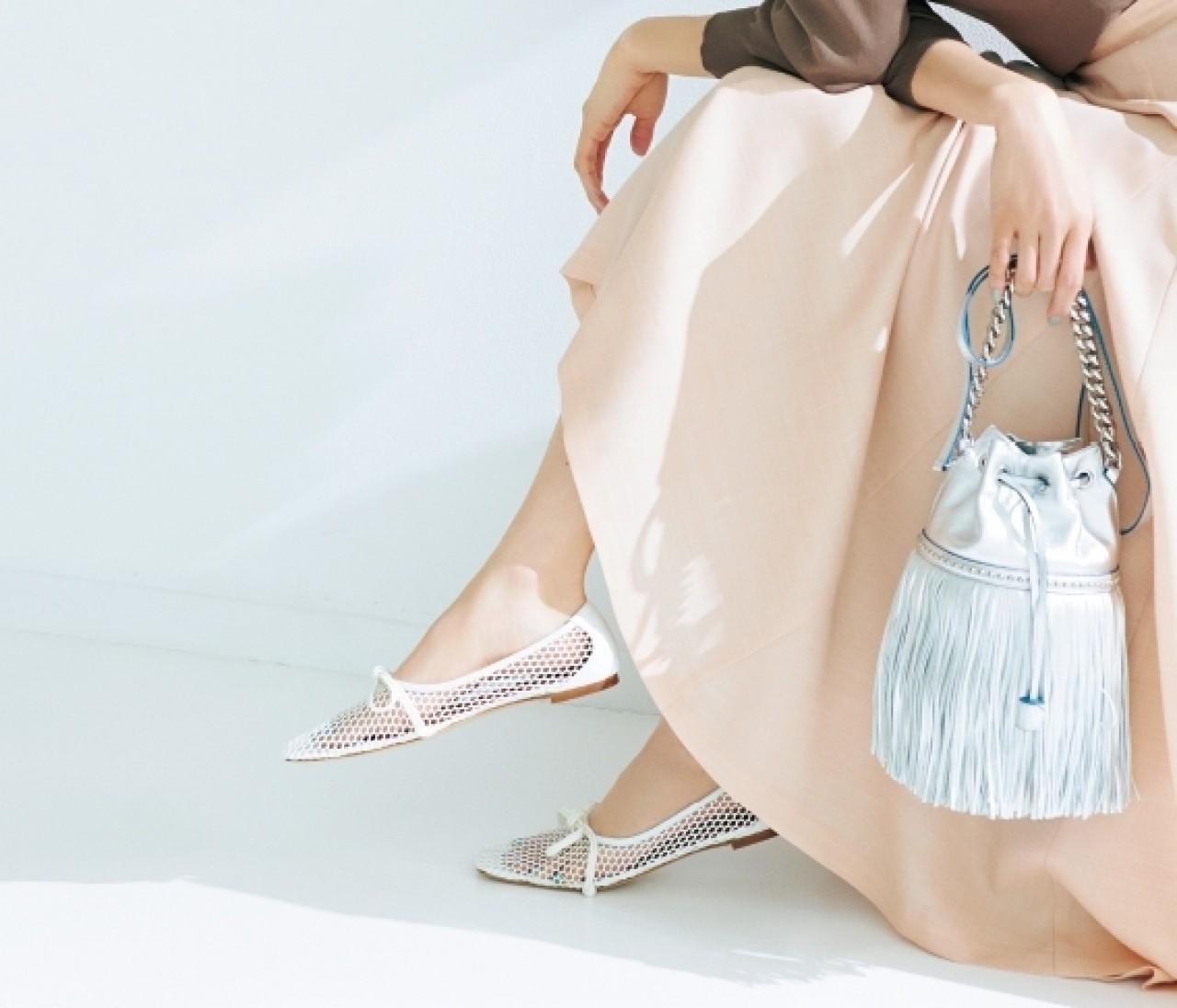 """【働く女子の春フラット靴】メッシュ素材で上品な""""透け""""を手に入れて♡"""