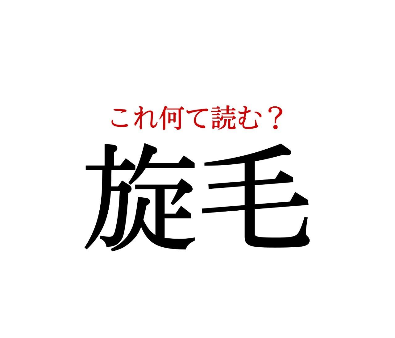 「旋毛」:この漢字、自信を持って読めますか?【働く大人の漢字クイズvol.202】