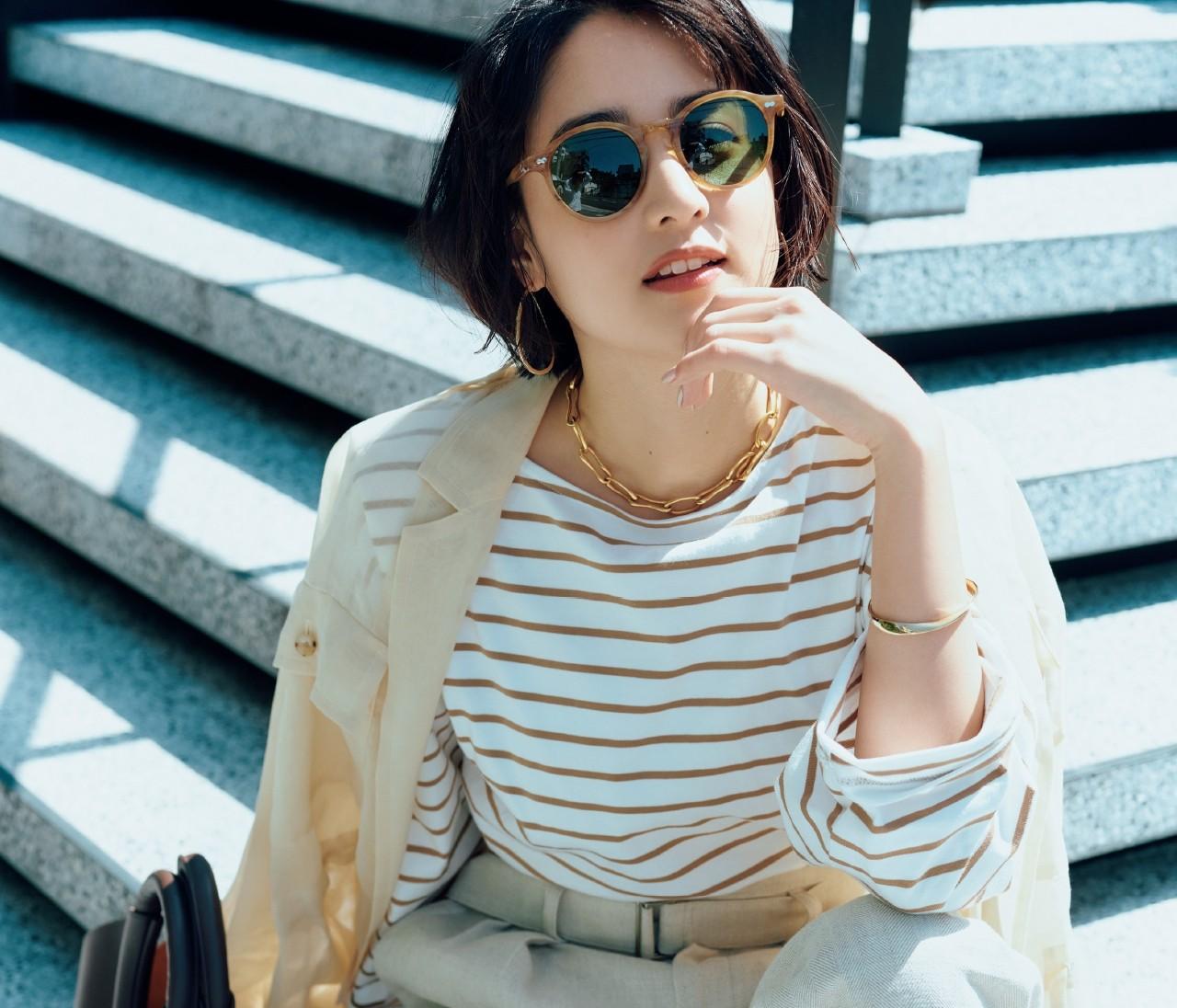 【ボーダーTシャツ】今買うなら、ベージュ&きれい色が狙い目!