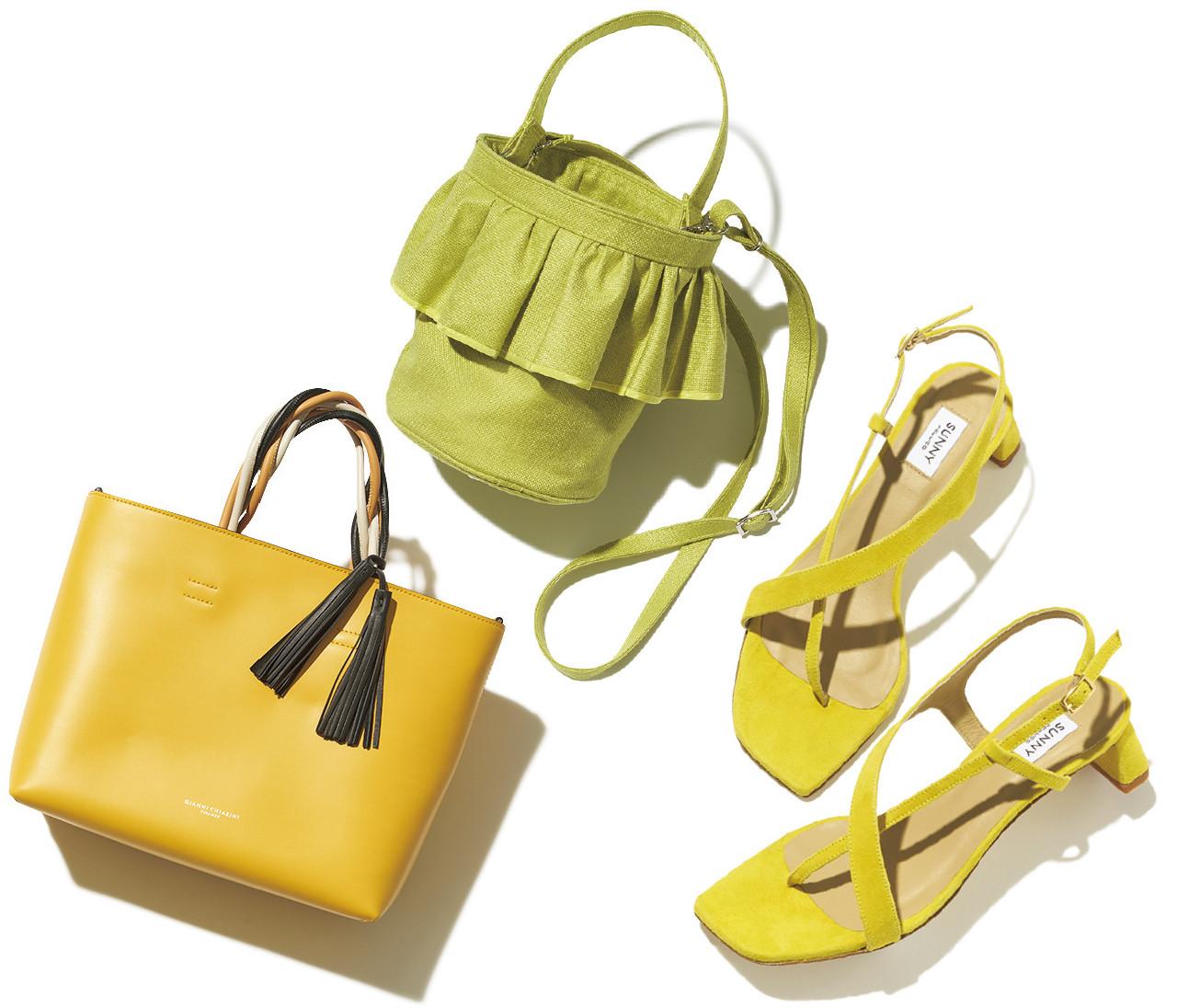 【春の靴&バッグ図鑑】トレンドカラーのイエロー。元気をくれるバッグ&靴8選