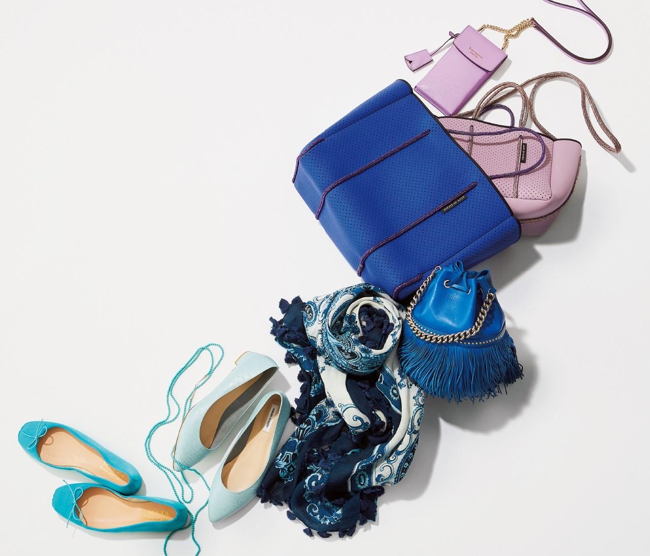 【旬カラー小物で気分UP!】「ブルー&パープル」はひねりの利いたデザインで遊ぶ!