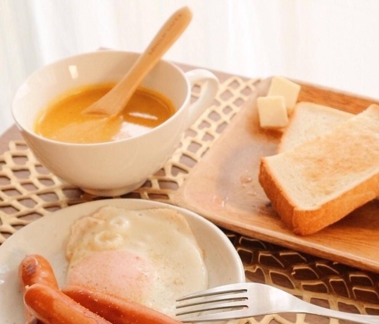 食育レシピ >> 美肌づくりに豆乳かぼちゃポタージュを。