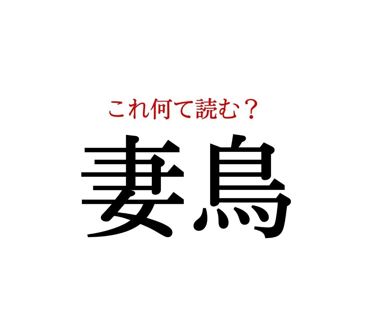 「妻鳥」:この漢字、自信を持って読めますか?【働く大人の漢字クイズvol.242】