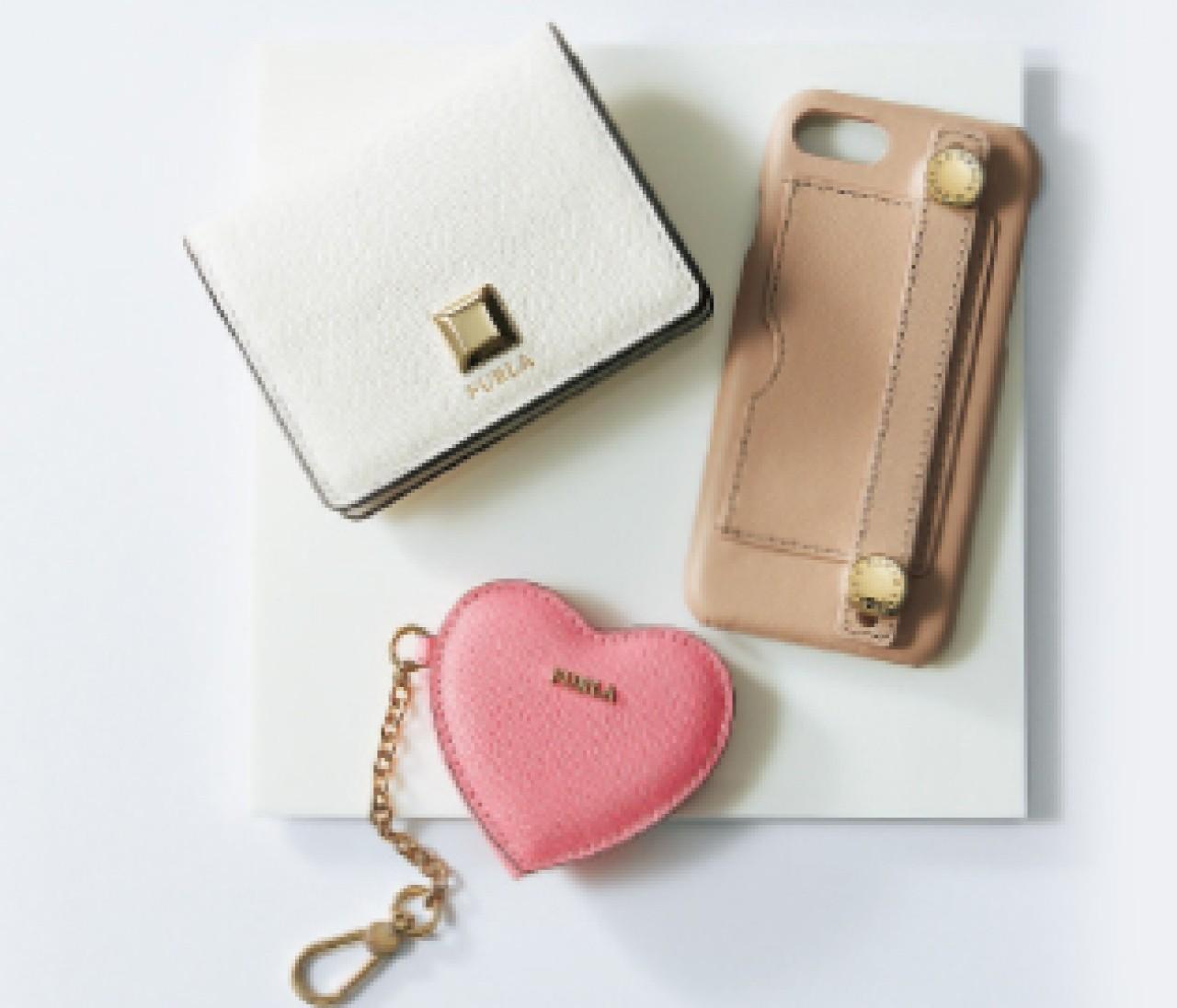 【FURLA】ピンクやベージュ、バッグの中を甘色でまとめて!スモールレザーグッズ⑨