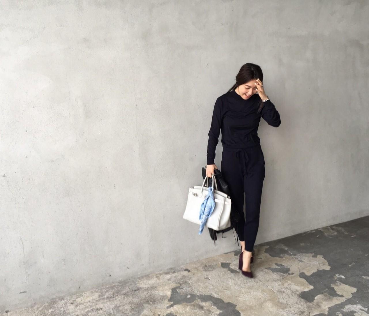 【#OOTD】ライター東原妙子さんのいつもの薄手ニットを新鮮に変える方法♪