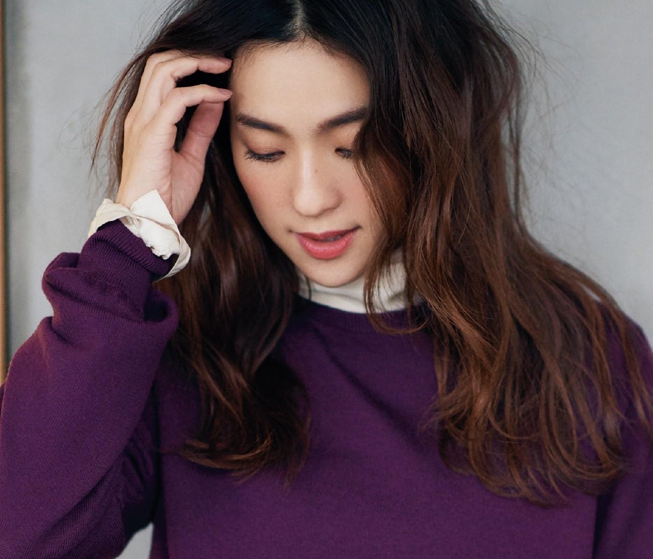 【冬の着やせ配色ルール】「ちょっぴり白」で軽やかスタイルに!