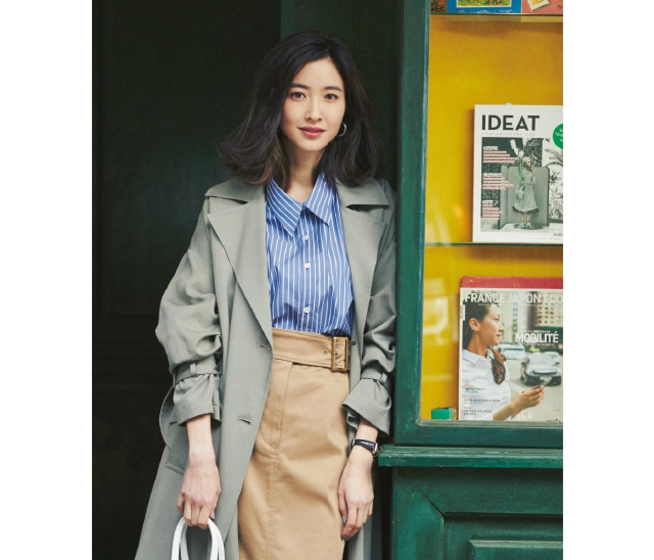 人前に立つ日は、知的シャツ&好感度スカートでキリリとスタイル♡【2019/3/13のコーデ】