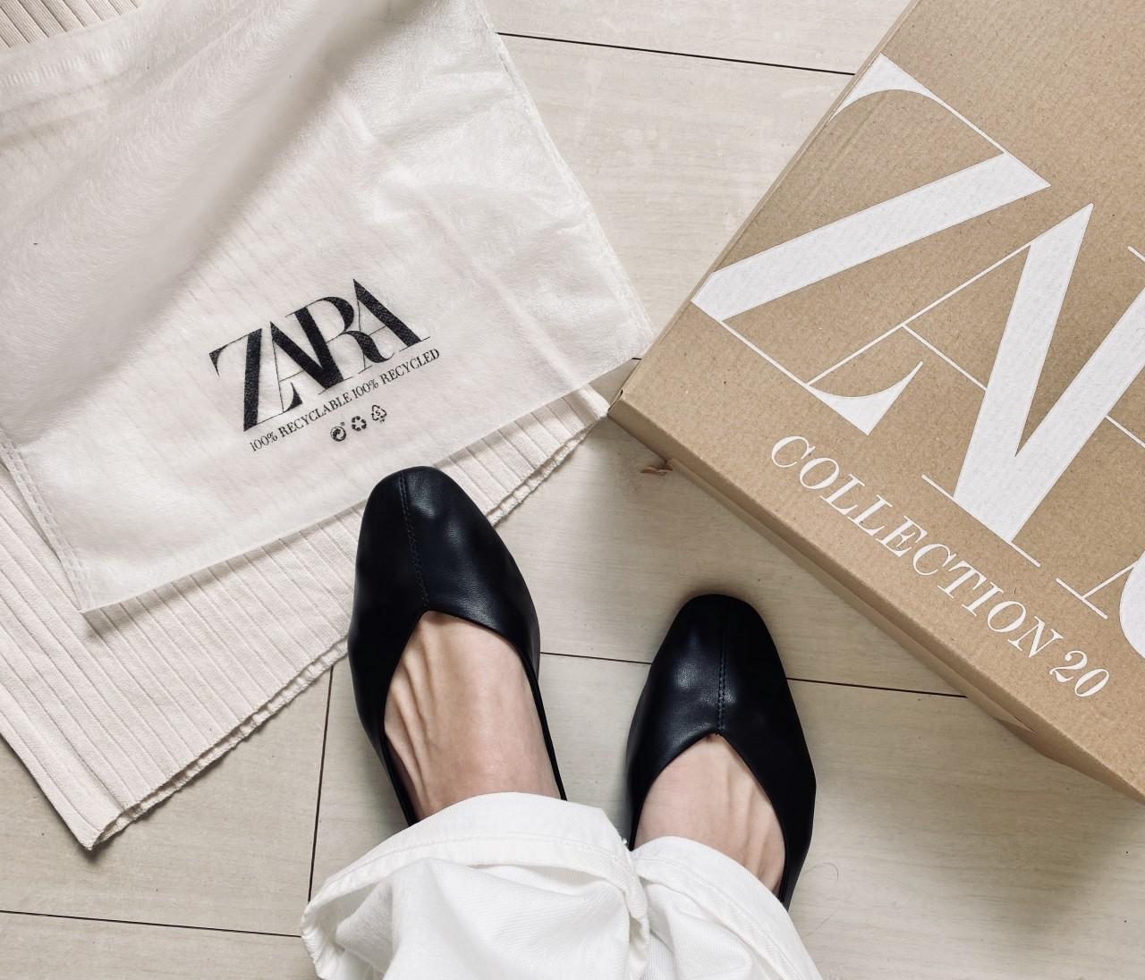 【ZARA】話題のソフトレザーバレエシューズが40%オフ!
