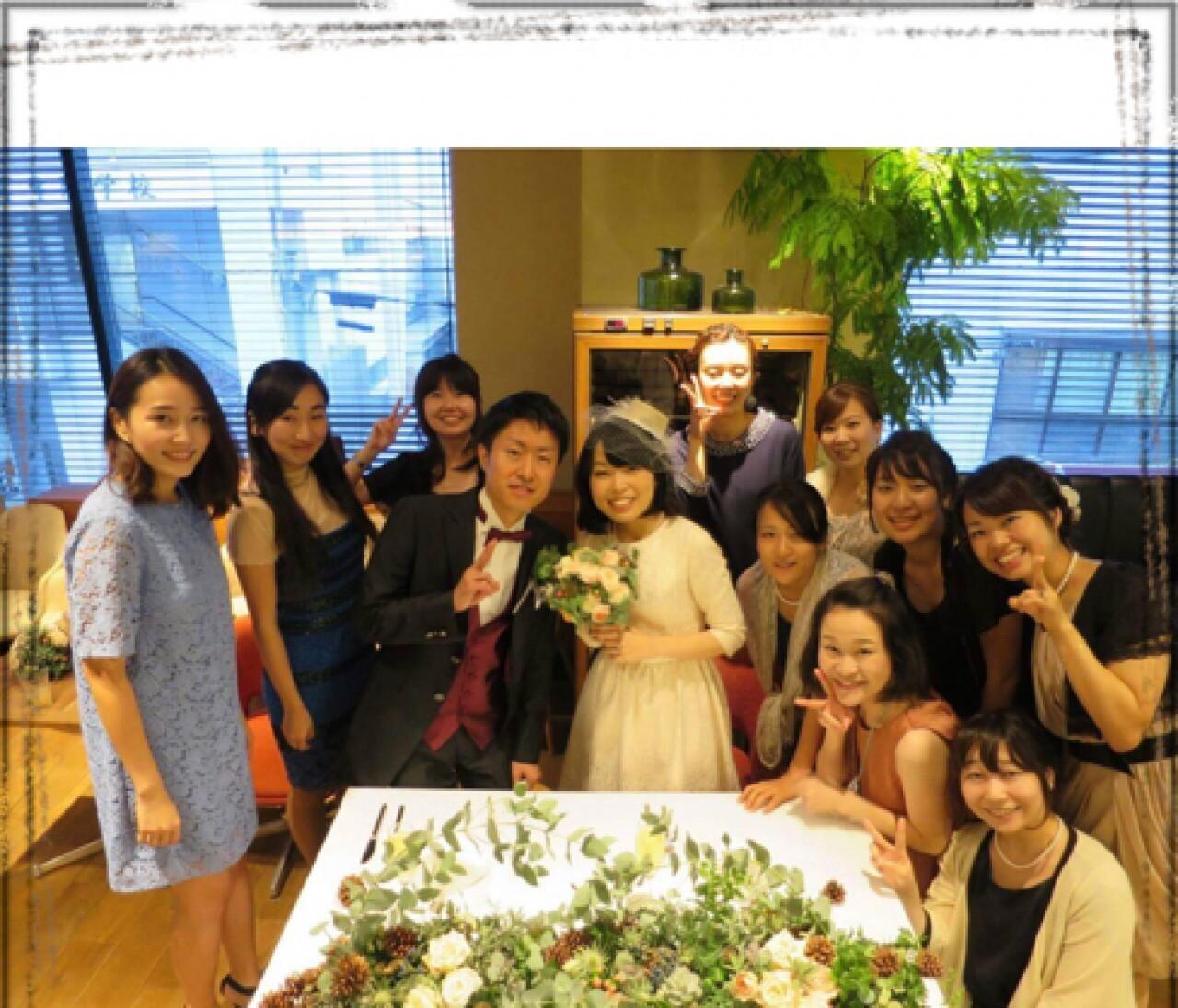 お友達の結婚式へ