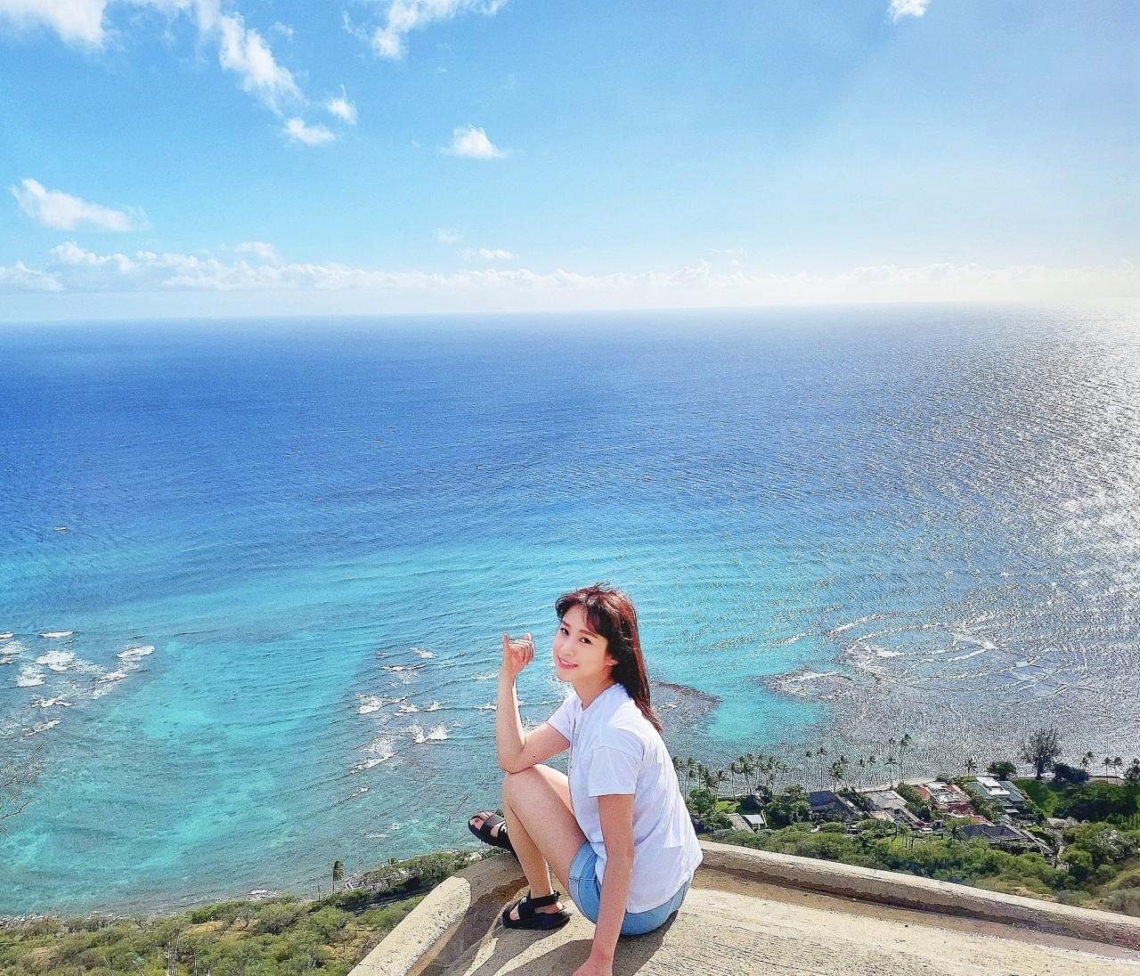 ハワイ〜ホノルル旅行♡ダイヤモンドヘッドからの景色
