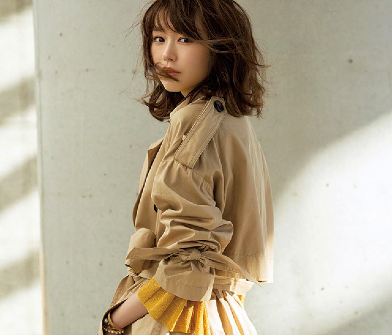 桐谷美玲の主張♡ 春コートは【ゆるっトレンチ】でスタンバイすべき3大理由