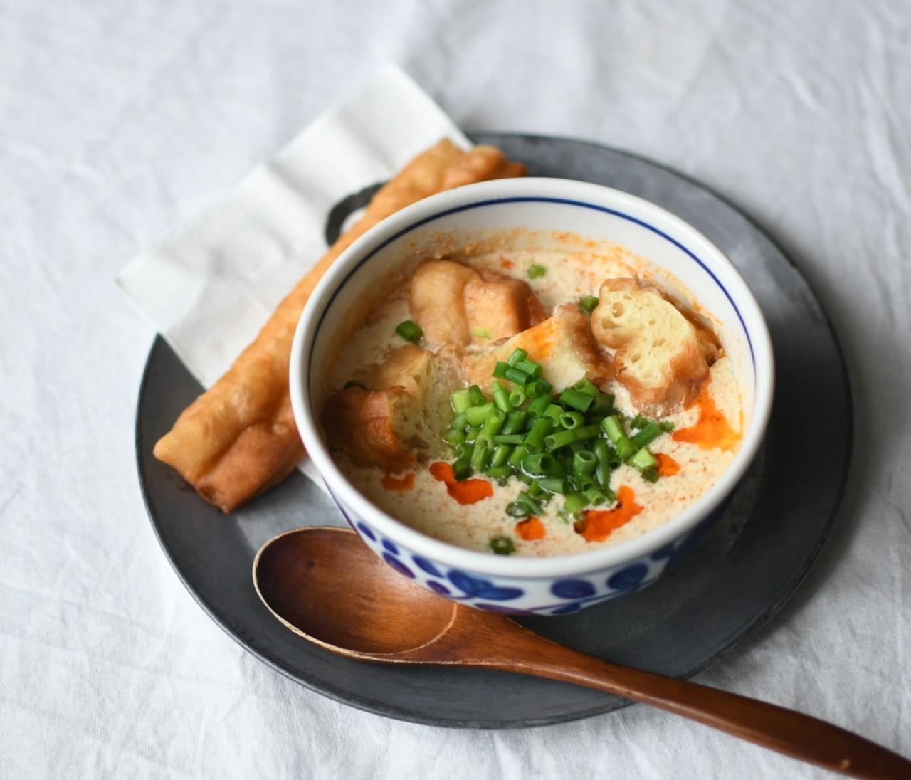 【カルディ(KALDI)】1袋分66円♡ 台湾式のおしゃれ朝食が3分で完成する「鹹豆漿の素」