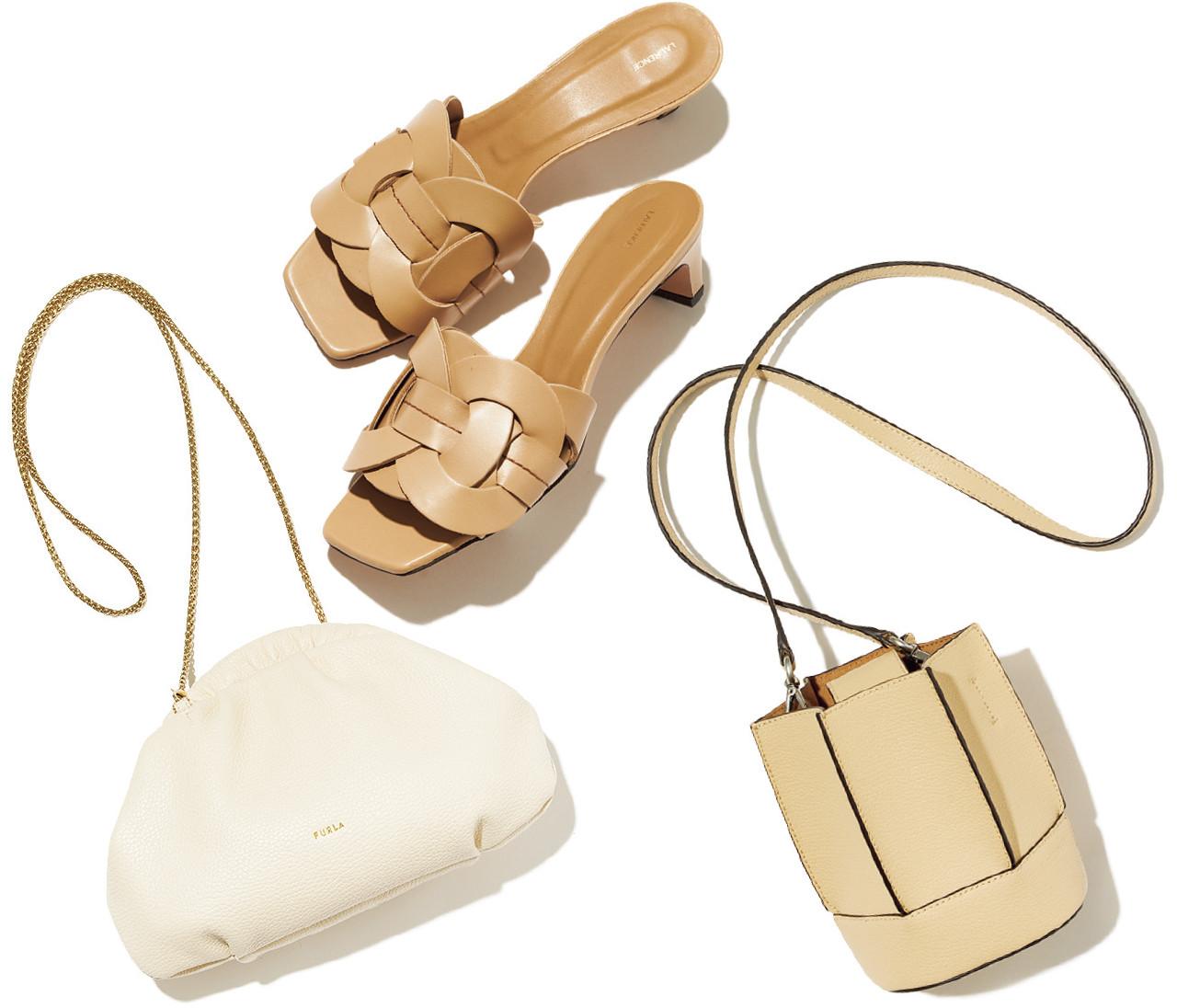 【春の靴&バッグ図鑑】抜け感があって合わせやすい!白&ベージュのバッグ&靴8選
