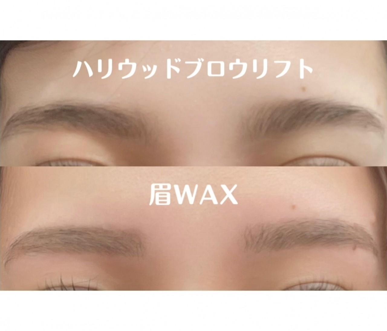 【決定版】どっちがいい?!ハリウッドブロウリフトor美眉WAX