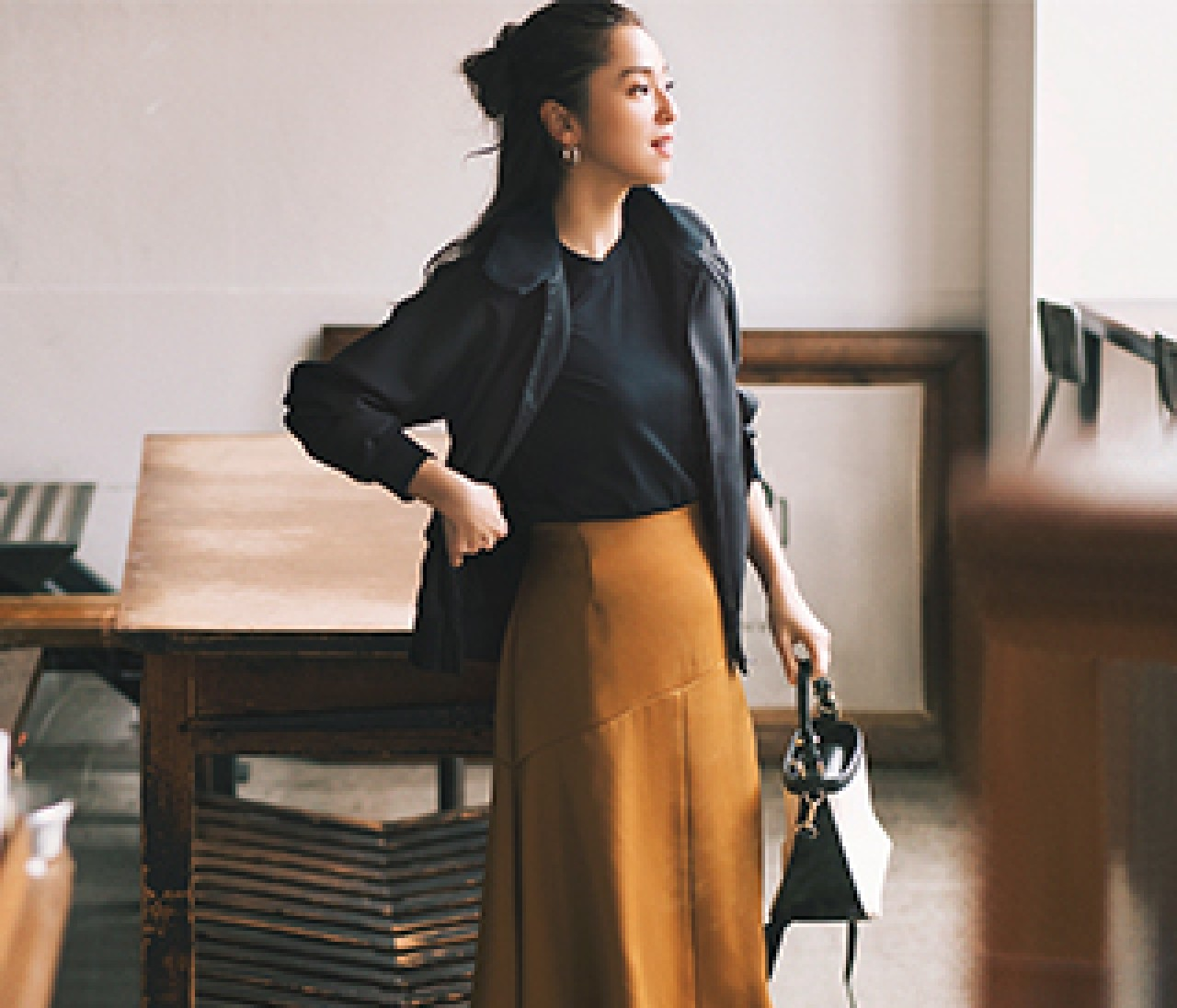 【フレアスカート×Tシャツ】でつくる最旬スタイル♪ 予定のない日こそコーデにときめきを!