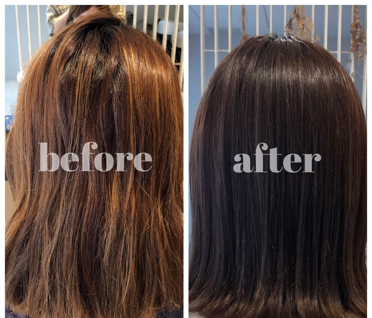 夏にオススメ‼︎暗髪なのに透明感ある涼しげヘアカラー