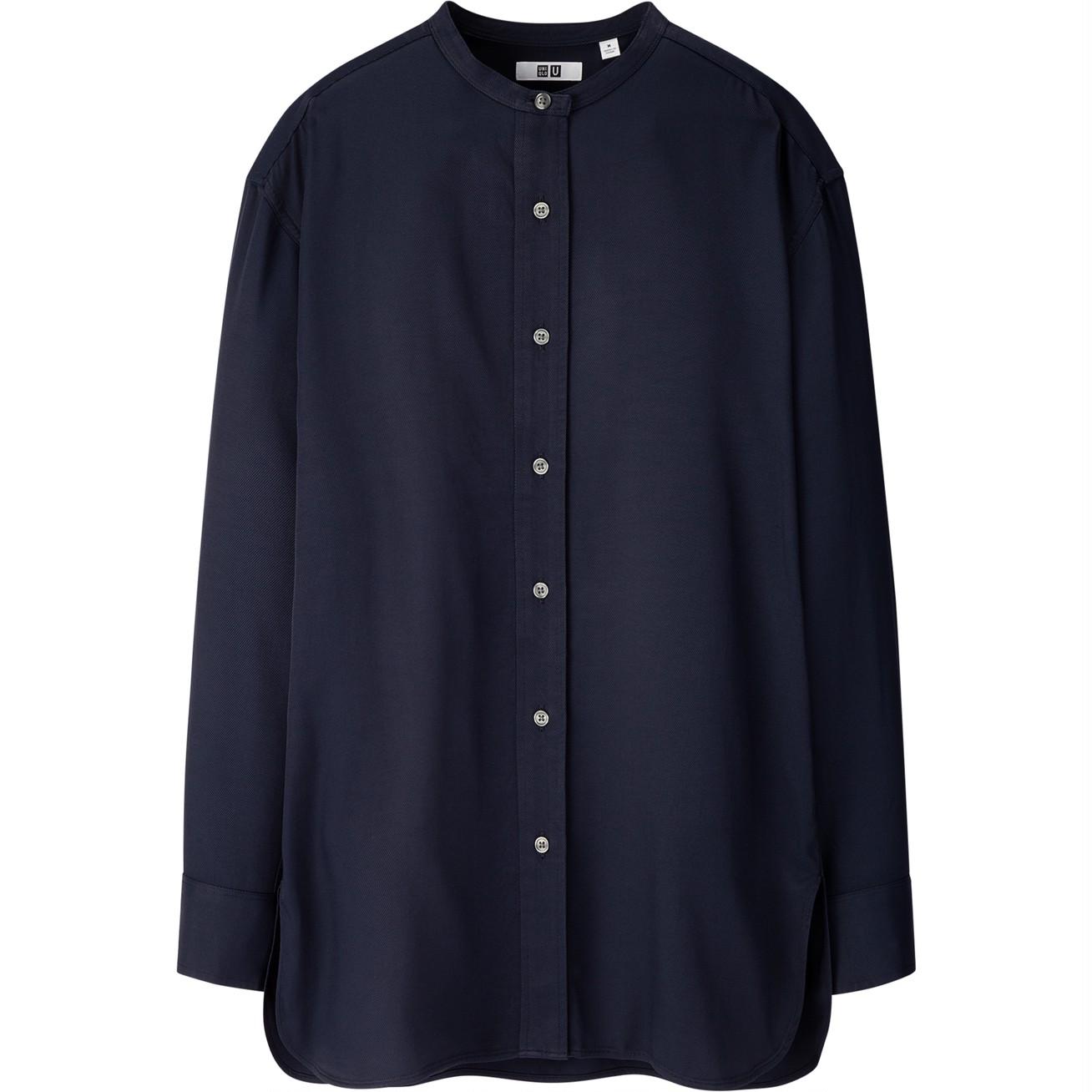 ドレープツイルスタンドカラーシャツ(長袖)¥2990/ユニクロ(ユニクロ ユー)