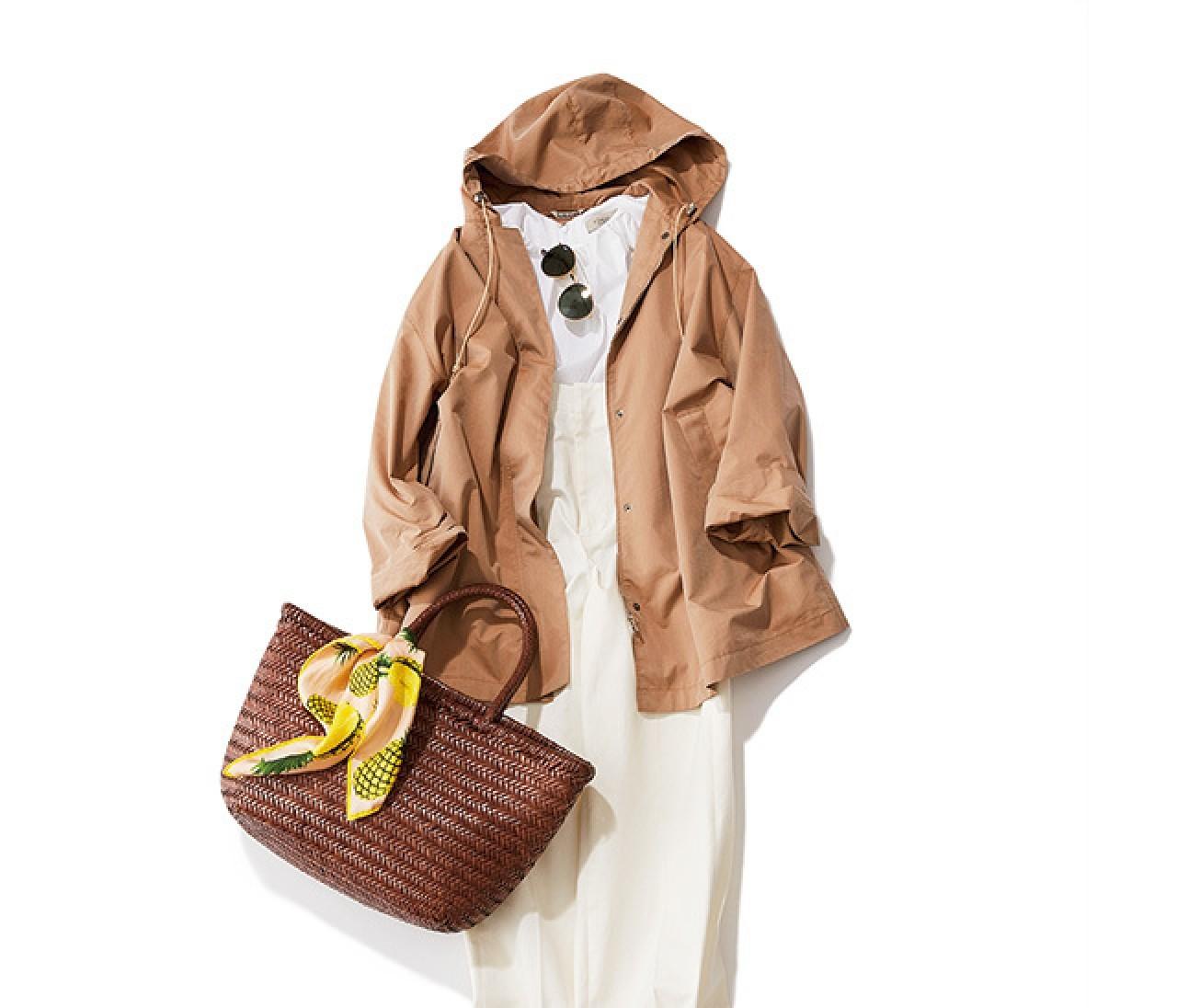 春のホワイトスタイルは、スポーティジャケットでまろやかに♡