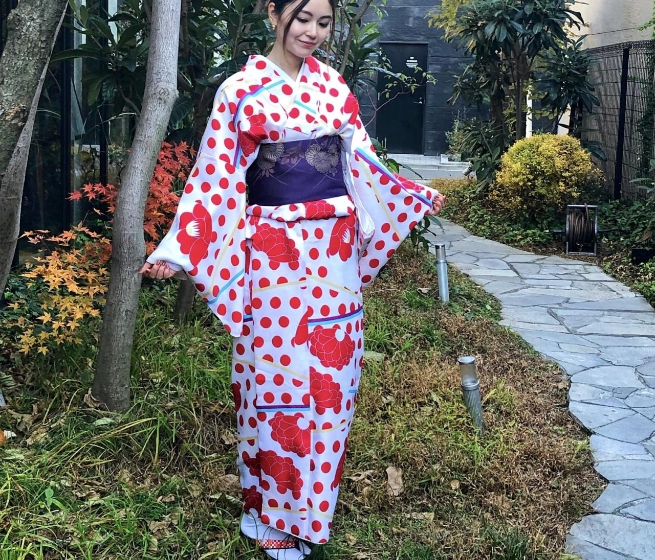 【着物女子会】新年は着物を着て初詣へ♡