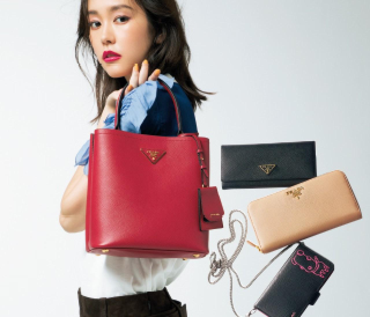 タフでチャーミングな【プラダ(PRADA)】のバッグと財布に注目♡