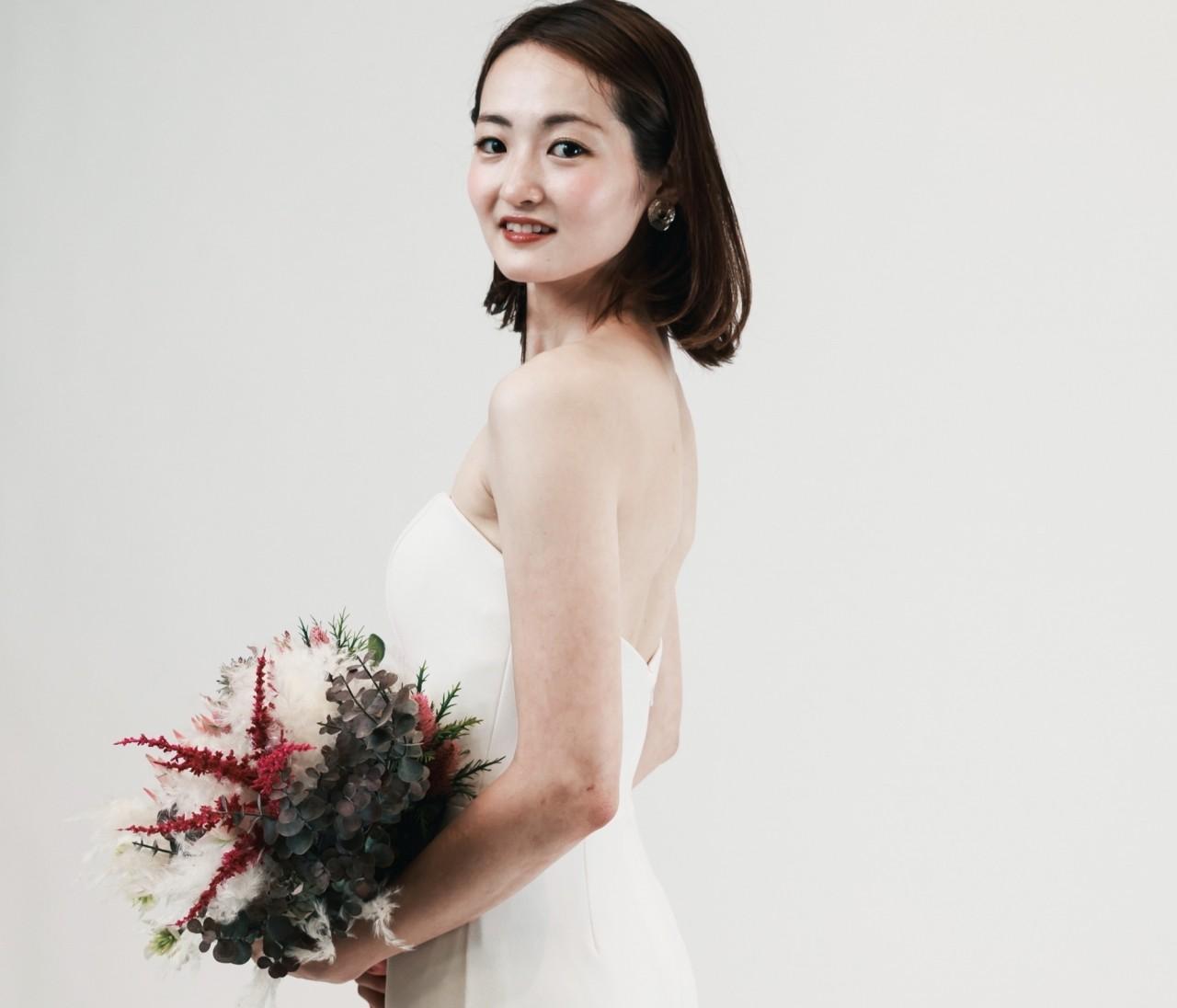 【私の式場選び】初めて着たウェディングドレス