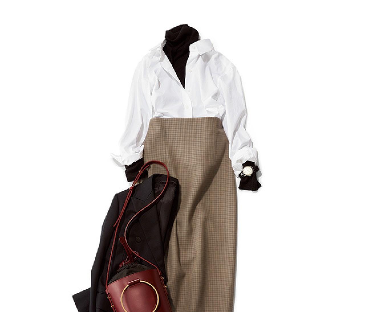 旬度&女っぷりUP! カッチリコーデの日は、バッグでさりげなく差し色を♡