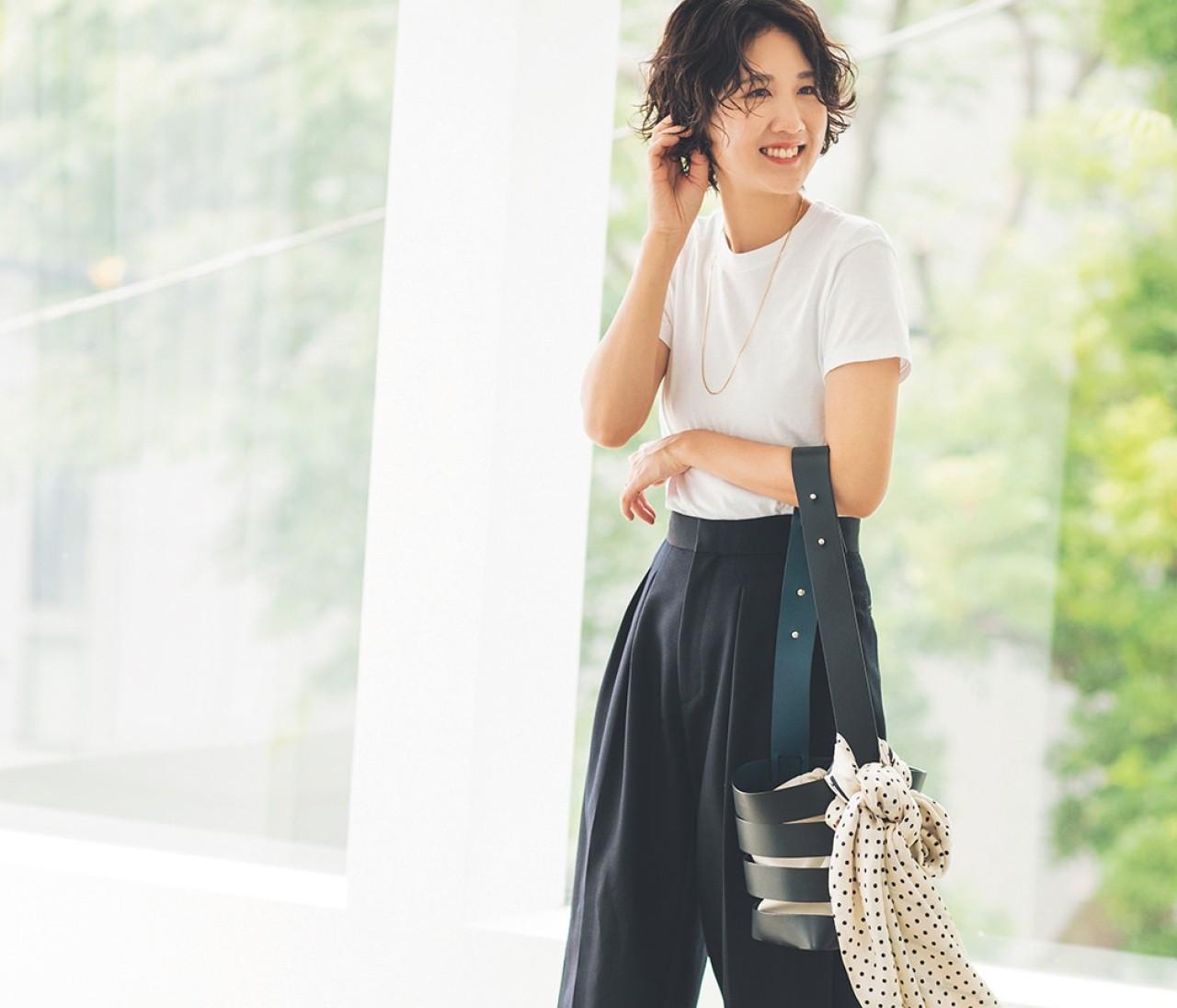 【30代女子の夏ファッションQ&A】通勤OKのTシャツコーデとは?