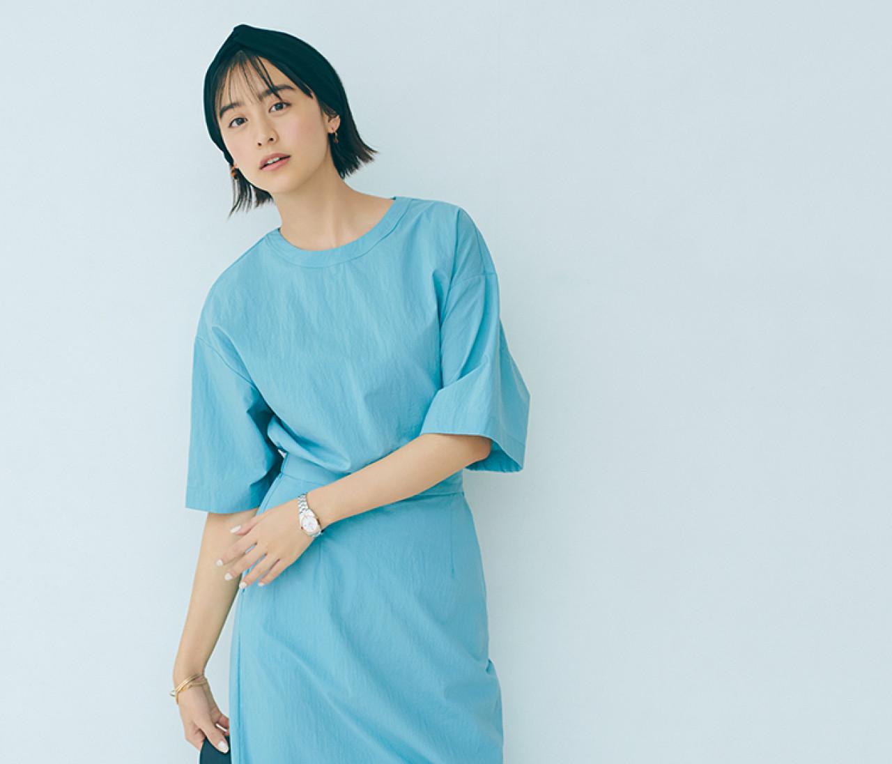 【山本美月の春支度 2】ブルーをフェミニンアイテムで取り入れるなら、こう!