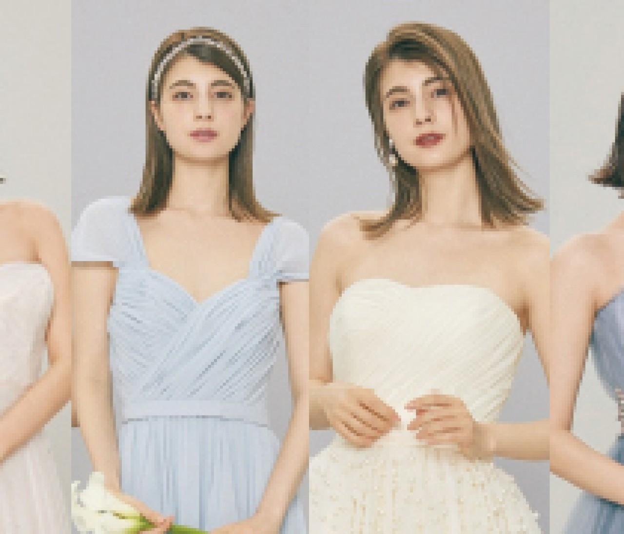 【10年先も美しいニュアンスカラードレスまとめ】変わらないエレガンスは大人っぽい色選びから