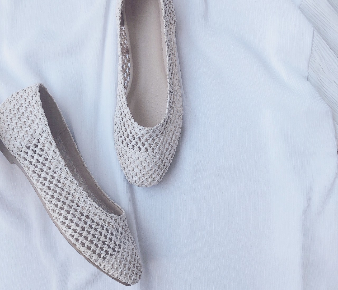 【GU春靴】履き心地最高!今季注目素材のバレエシューズ