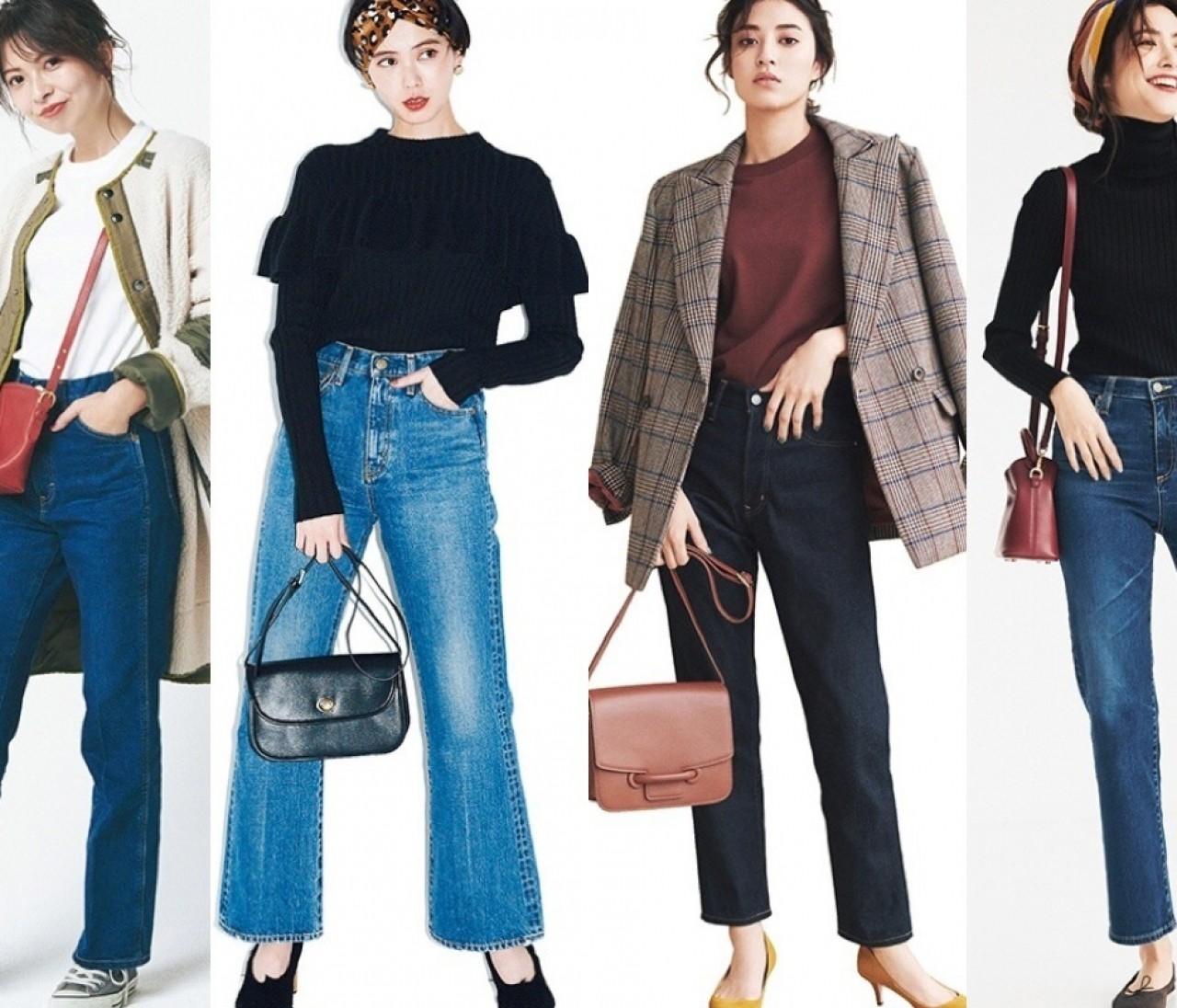 美脚も着やせも! 2019冬最新【30代ブルーデニムコーデ】20選|30代レディースファッション