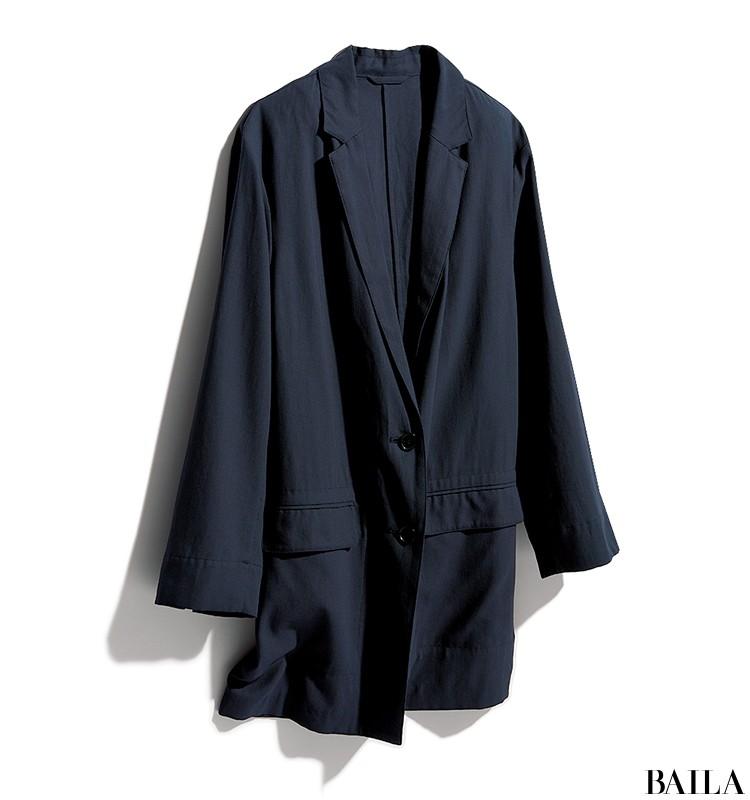 会議の日は、紺ジャケット×旬色ポロニットのきれいめスタイルで【2019/7/17のコーデ】_2_1