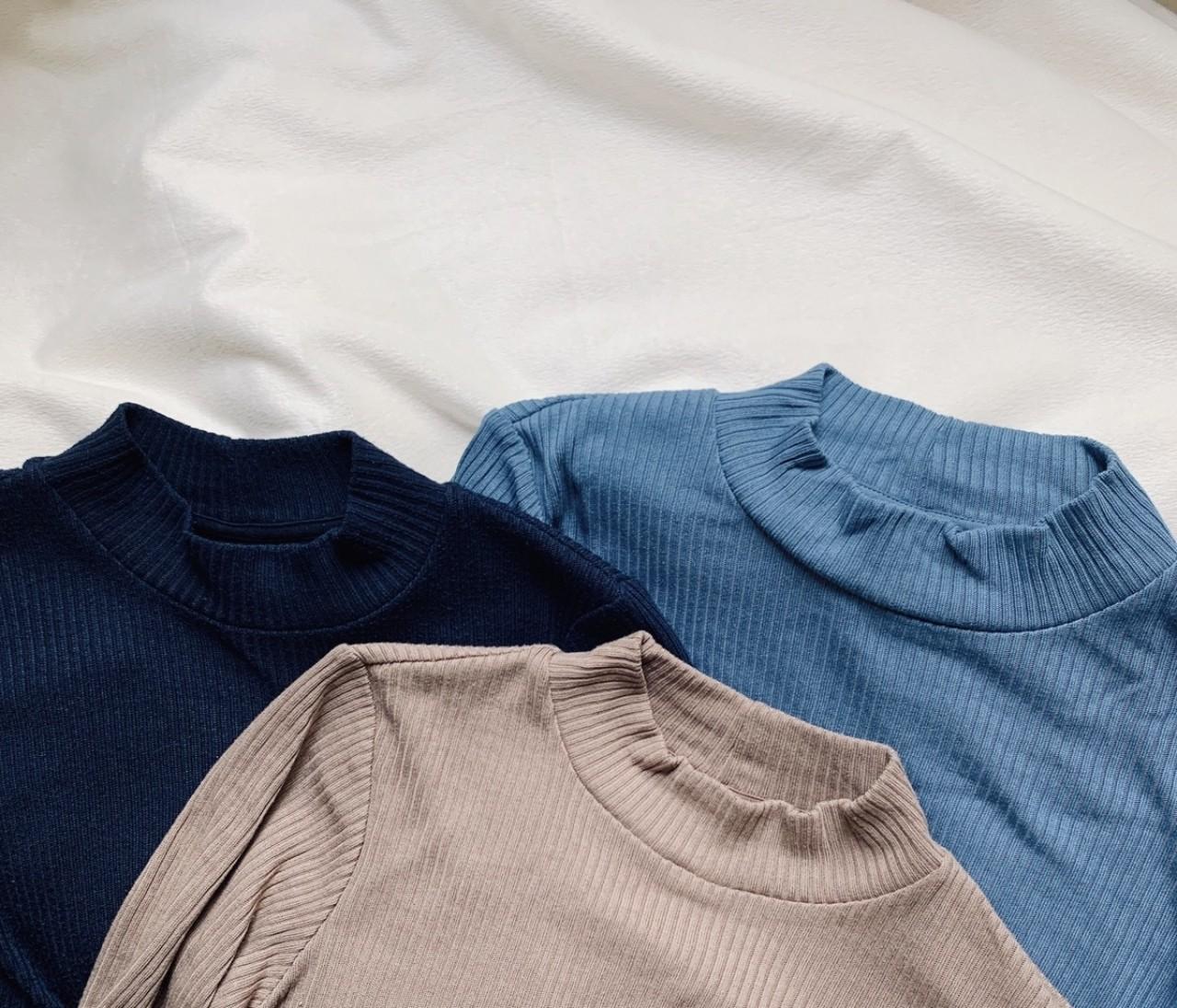 【UNIQLO】リブハイネックTの色別着まわしコーデ