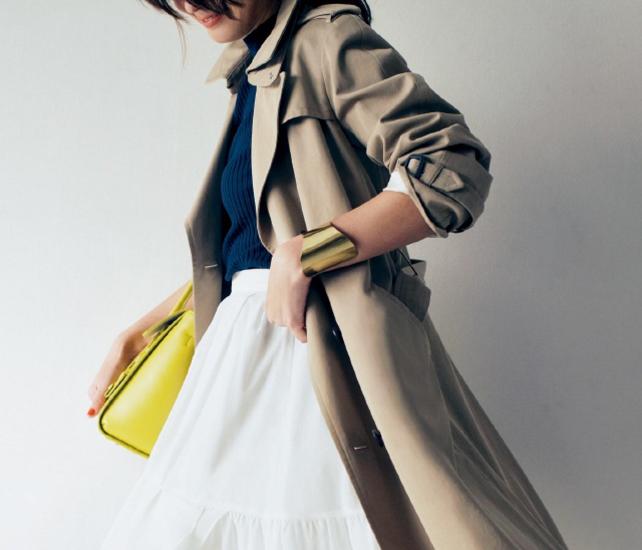 【バイラーズが実証①♥︎】トレンチ+ミモレ丈スカートがやっぱりモテる件