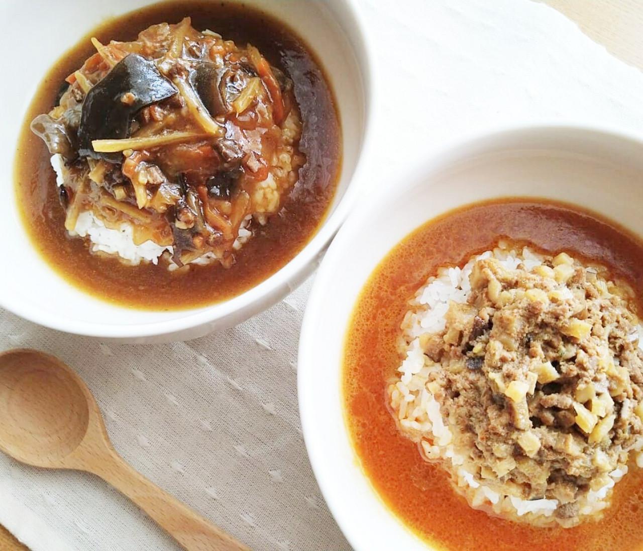 【無印良品】の中華レトルトで手軽に在宅ランチ♪「胡麻味噌担々スープ」と「酸辣湯(スーラータン)」が時短で美味しすぎる!