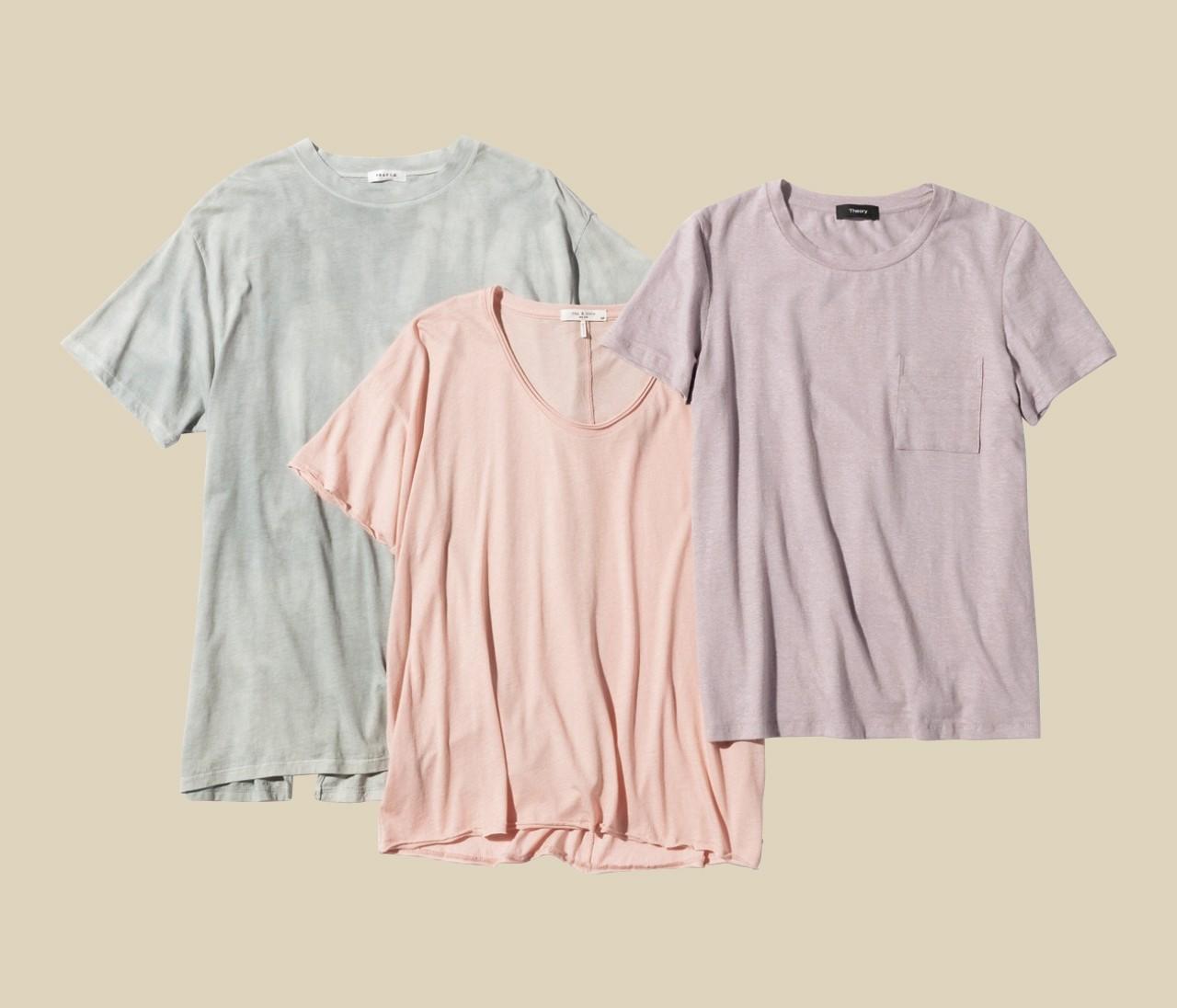 【辻直子さん夏のTシャツ】ニュアンスカラーのTシャツ、こう着るとおしゃれ!