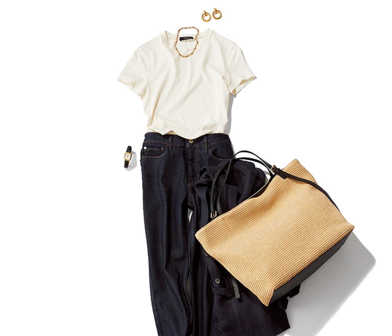 セールで買い物する日は、動きやすく自分らしい白T&デニムで!【2019/7/6のコーデ】