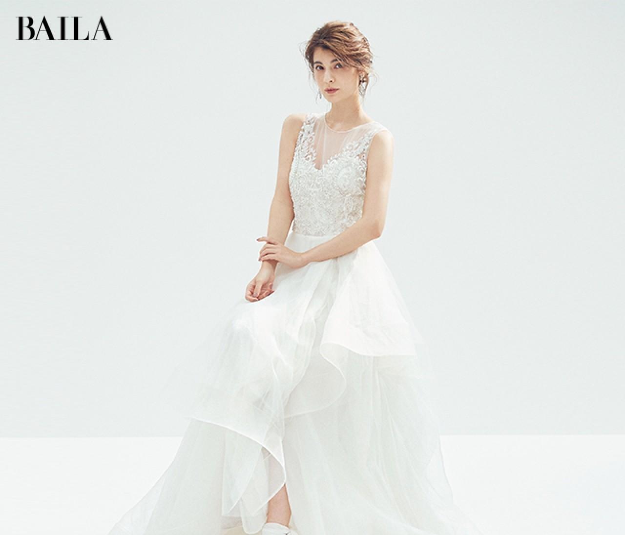 輝く【クリスタルシルバー小物】で白ドレスに華やぎを!